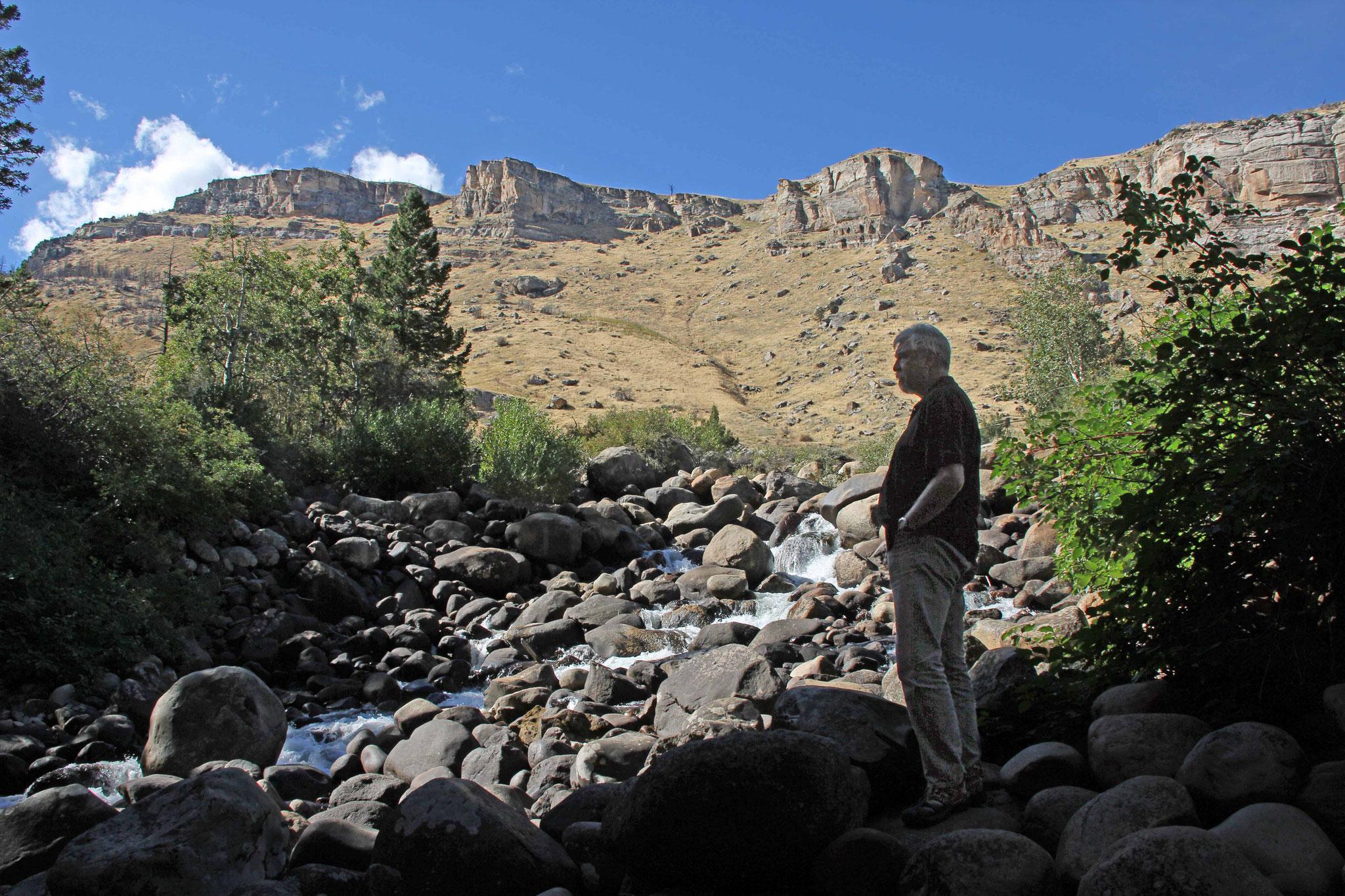 Bild 17 Am Sinks Canyon, wo das Flüßchen in einer Höhle verschwindet