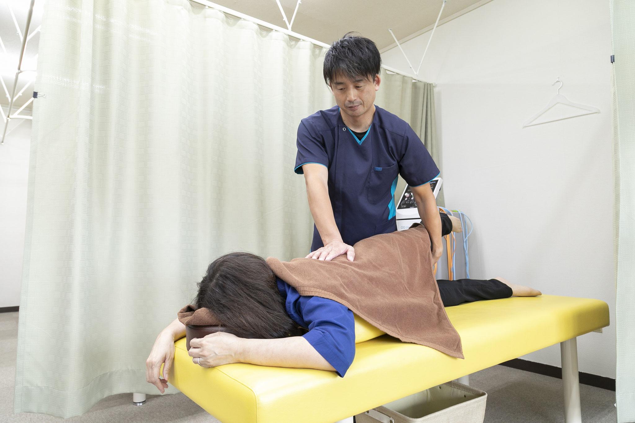 豊富な施術経験で さまざまな症状に対応いたします