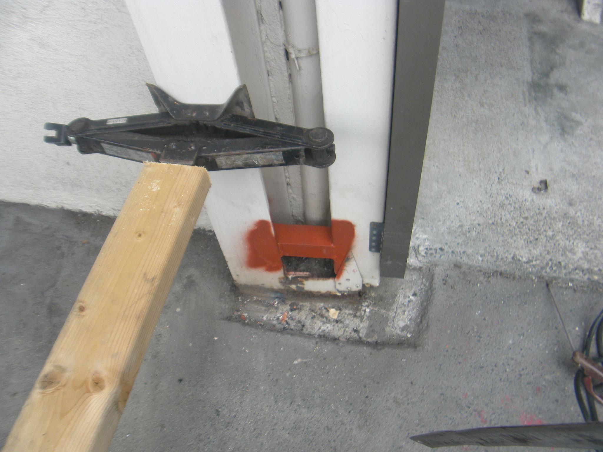 鉄部腐食部補強工事:工程写真