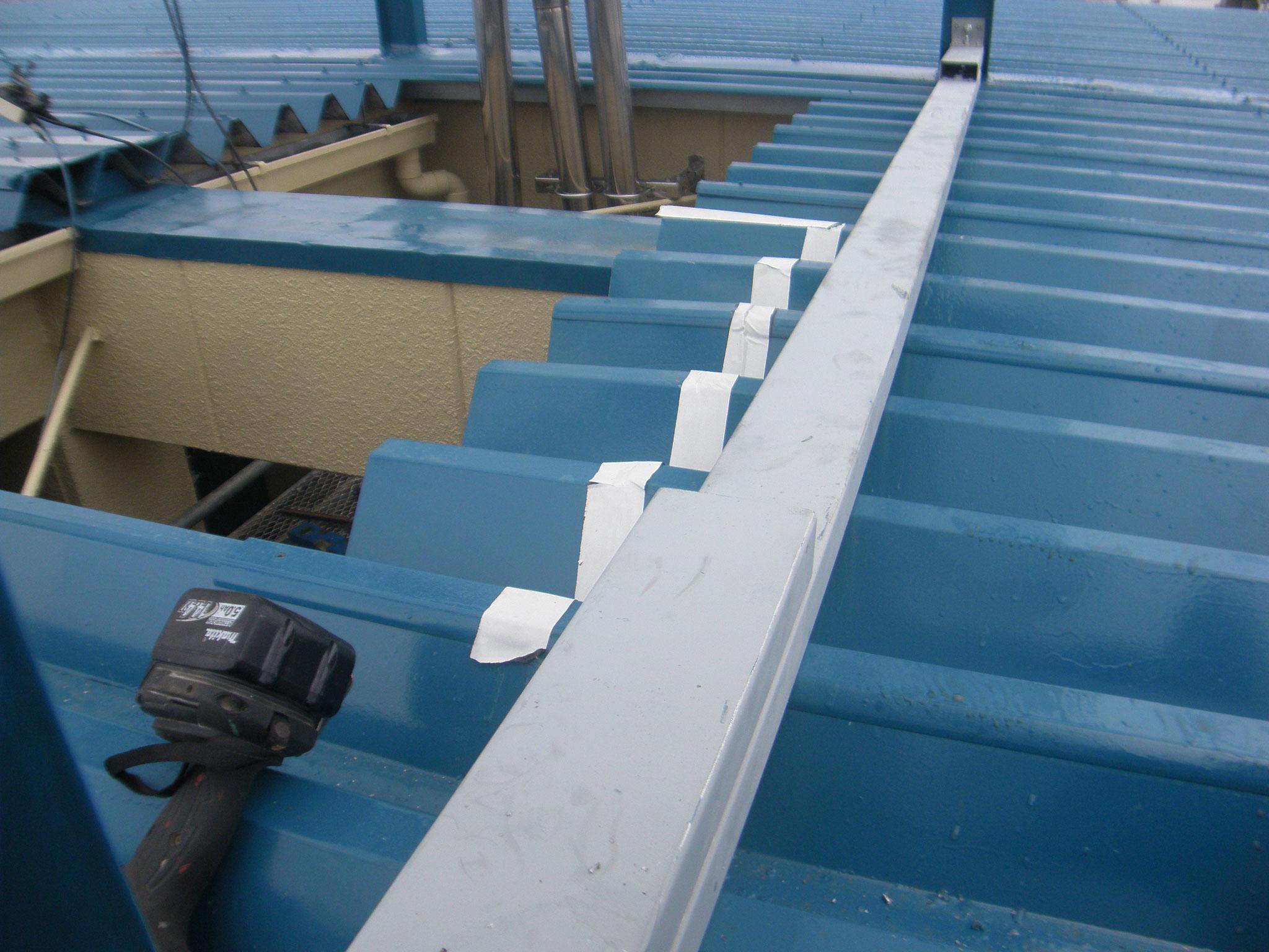 アルミ製階段継手工事:工程写真