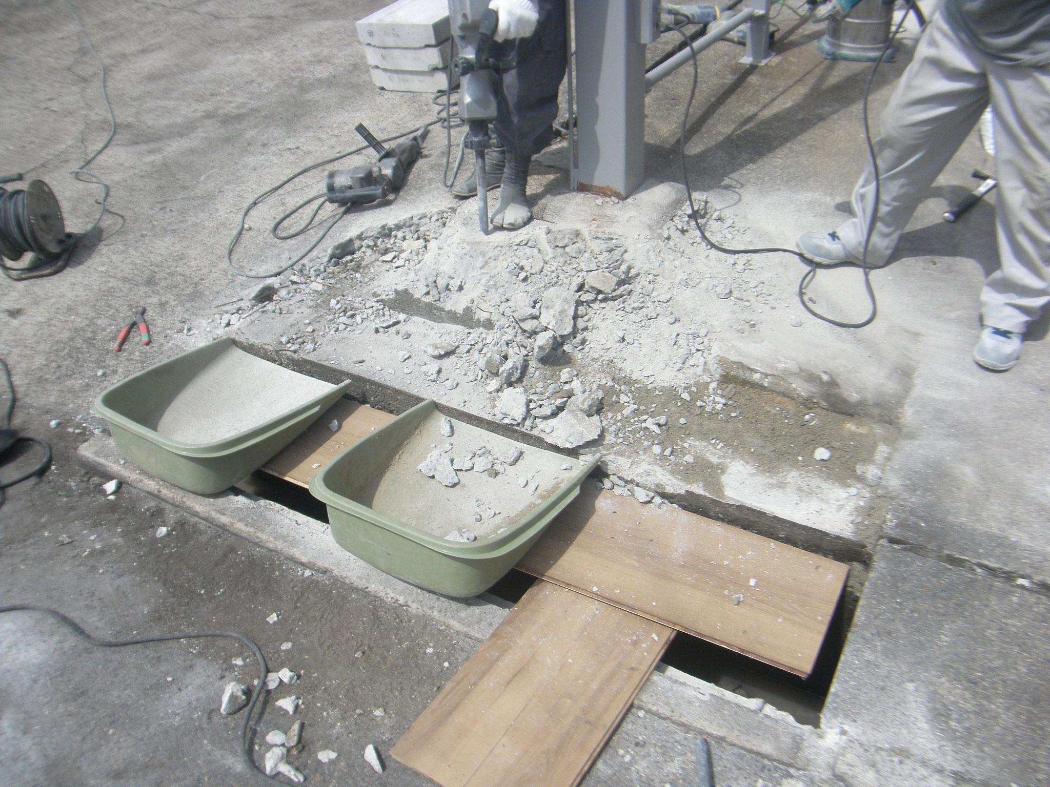 敷地内乗入れ改造工事:工程写真