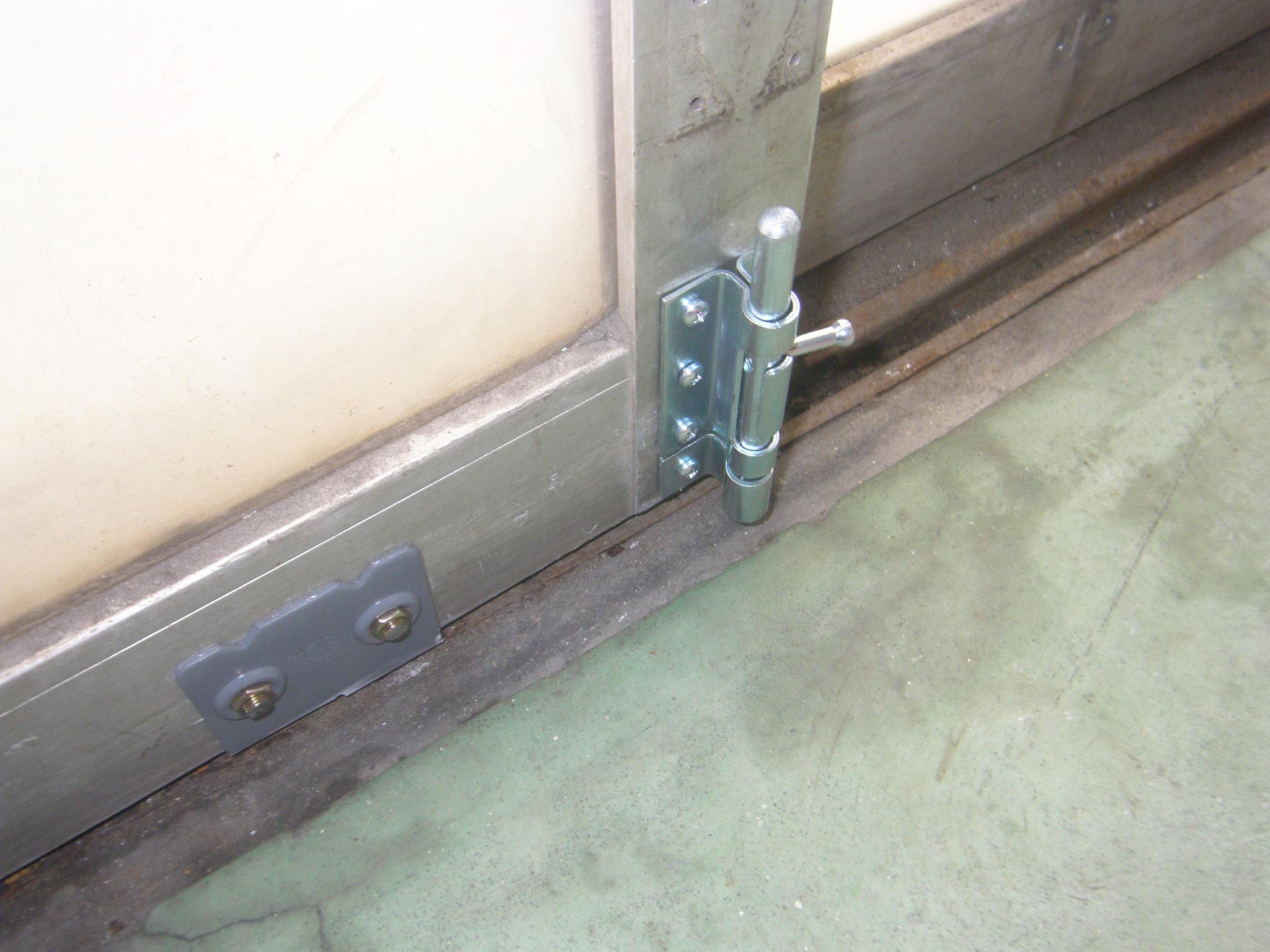 アルミ製ハンガードア改修工事:工程写真