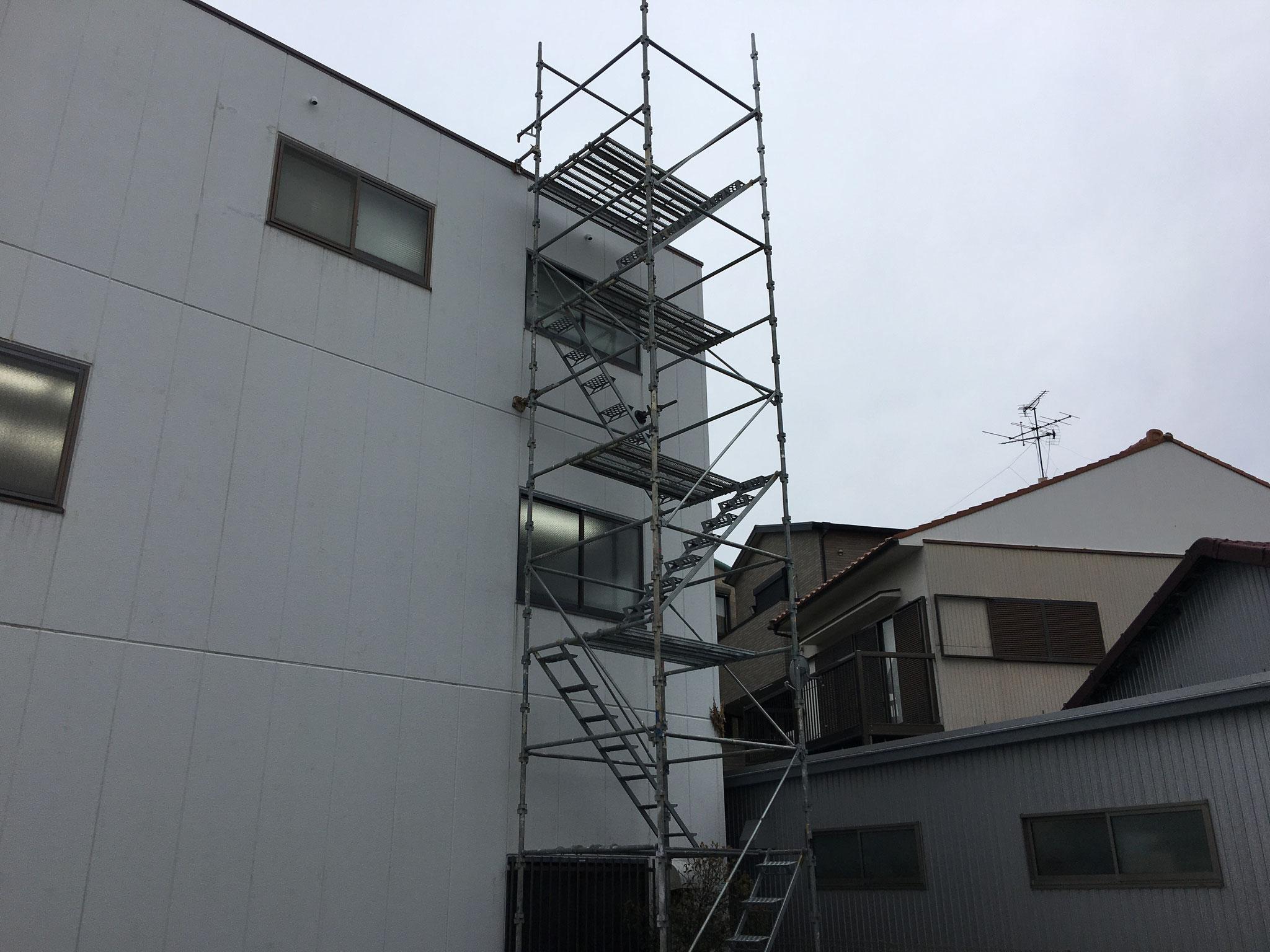 屋上昇降設備新設工事:工程写真
