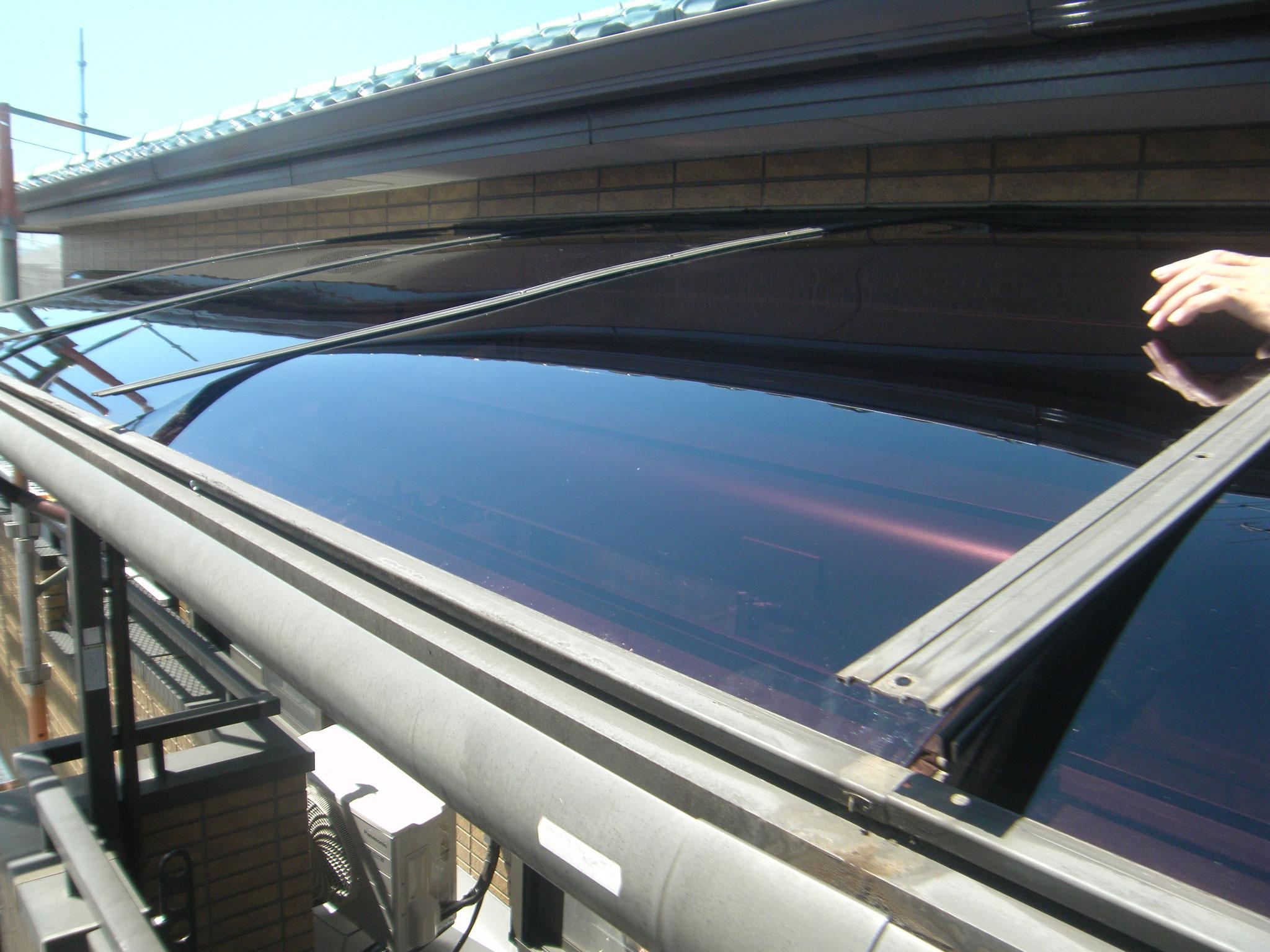 テラス屋根張替え工事:工程写真
