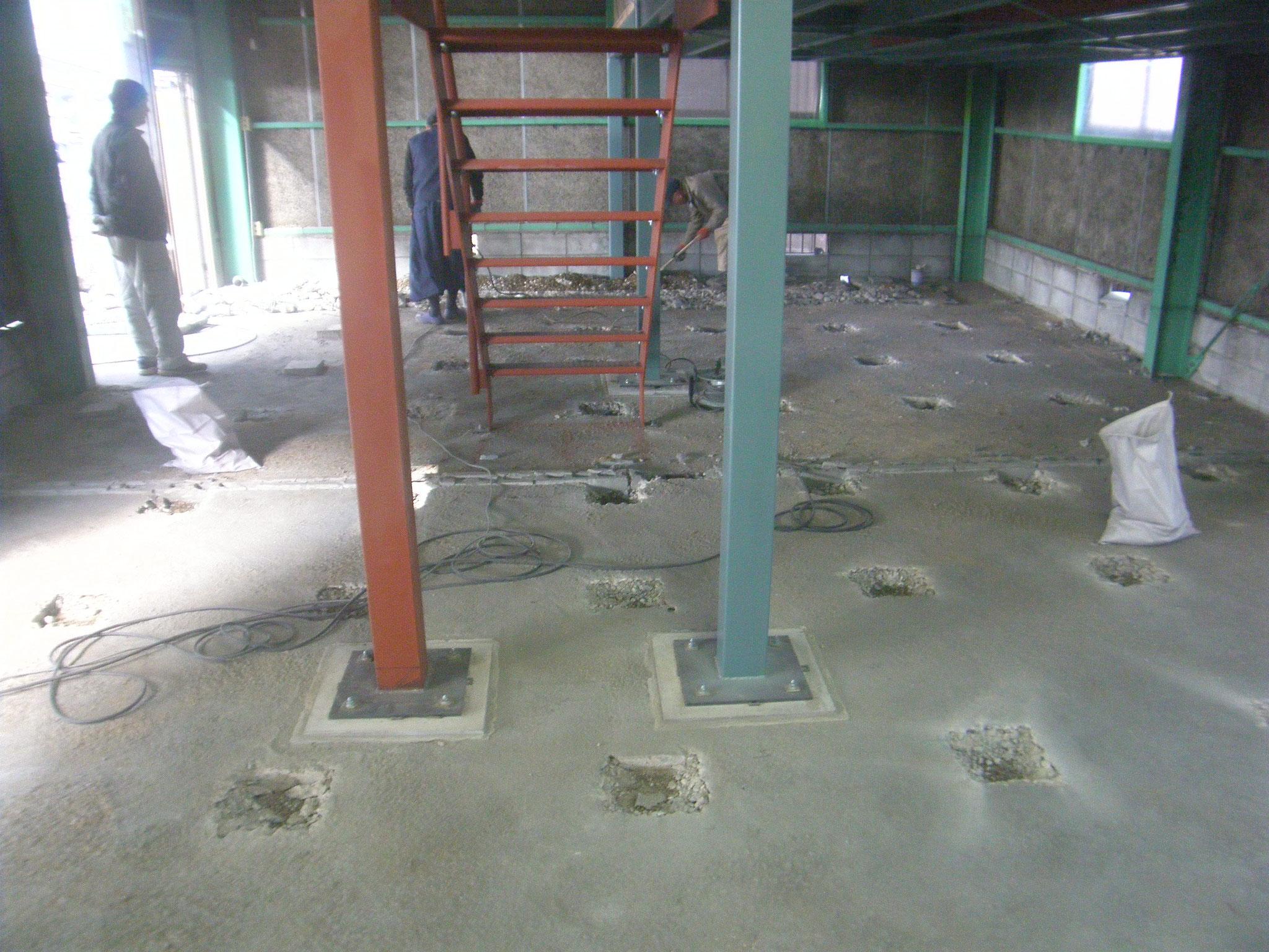 土間コンクリート新設:工程写真
