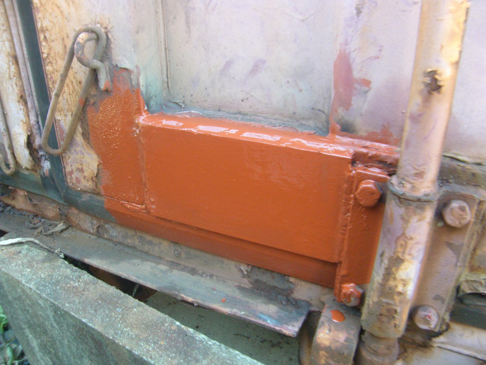 コンテナ溶接修理作業:工程写真
