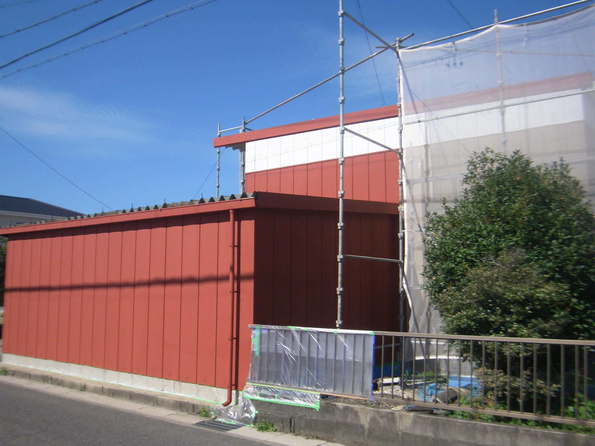 倉庫棟の改修工事:工程写真