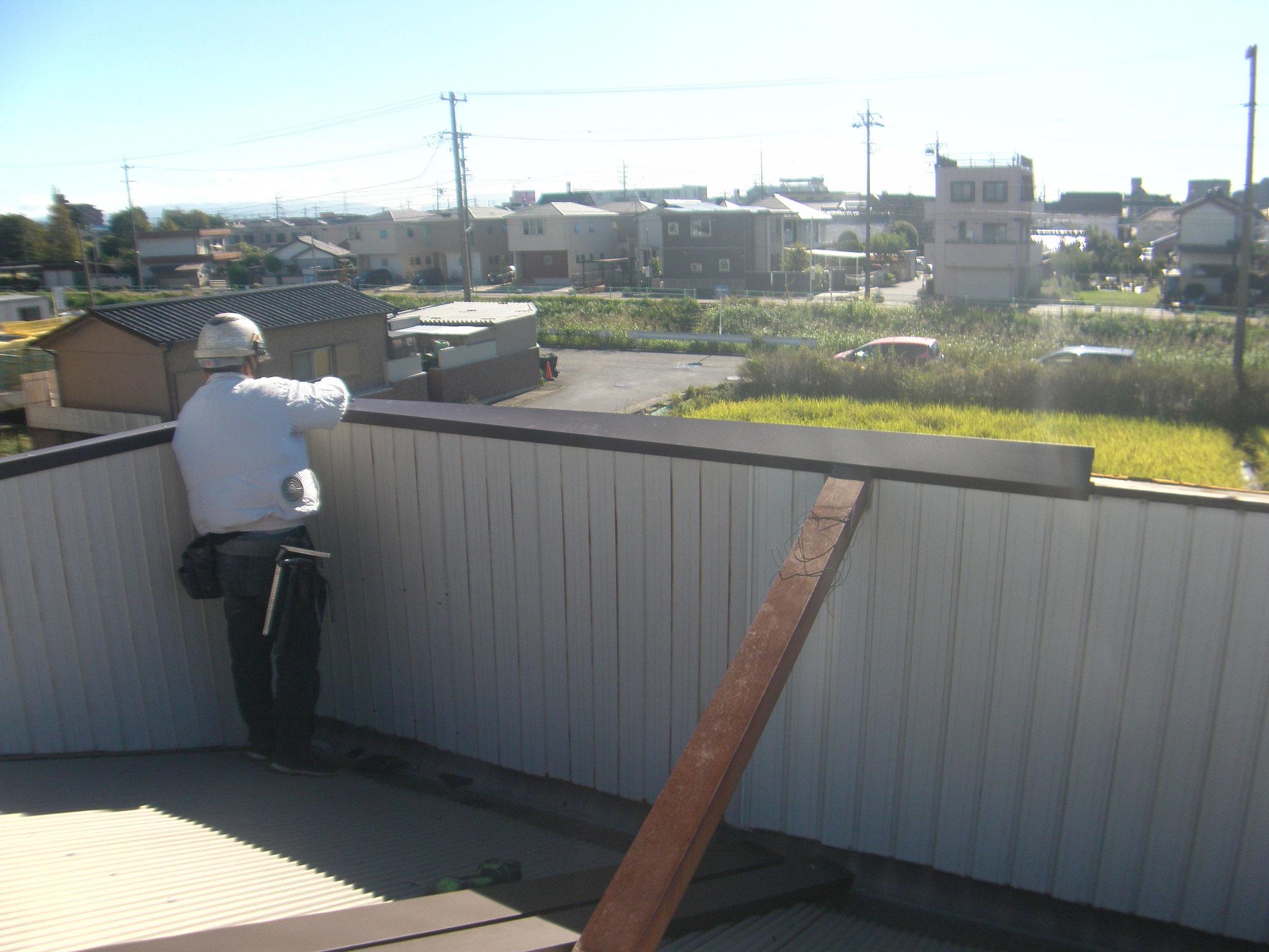 社屋外装復旧工事:工程写真