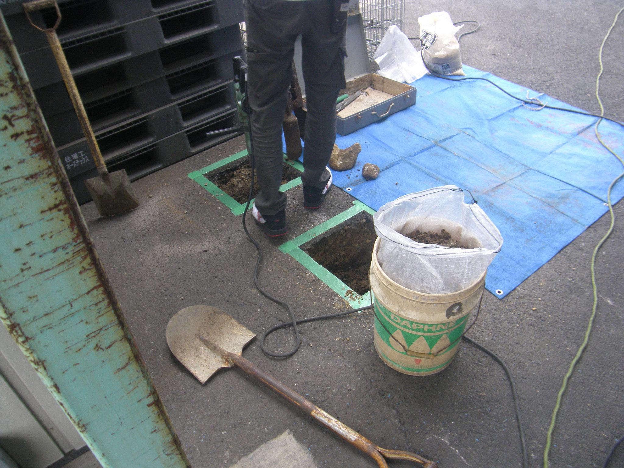 車止めポール新設工事:工程写真