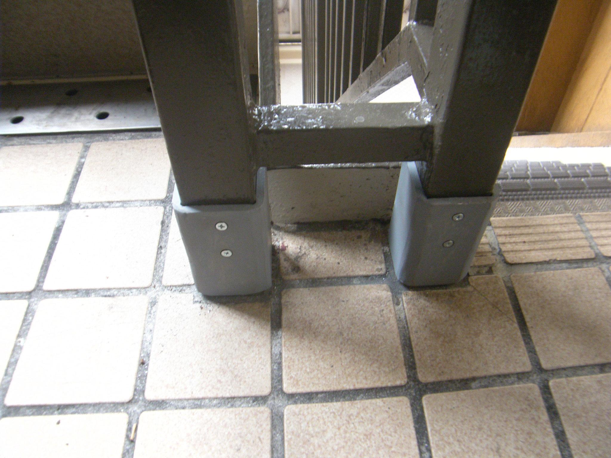 腐食手摺支柱補強工事:工程写真