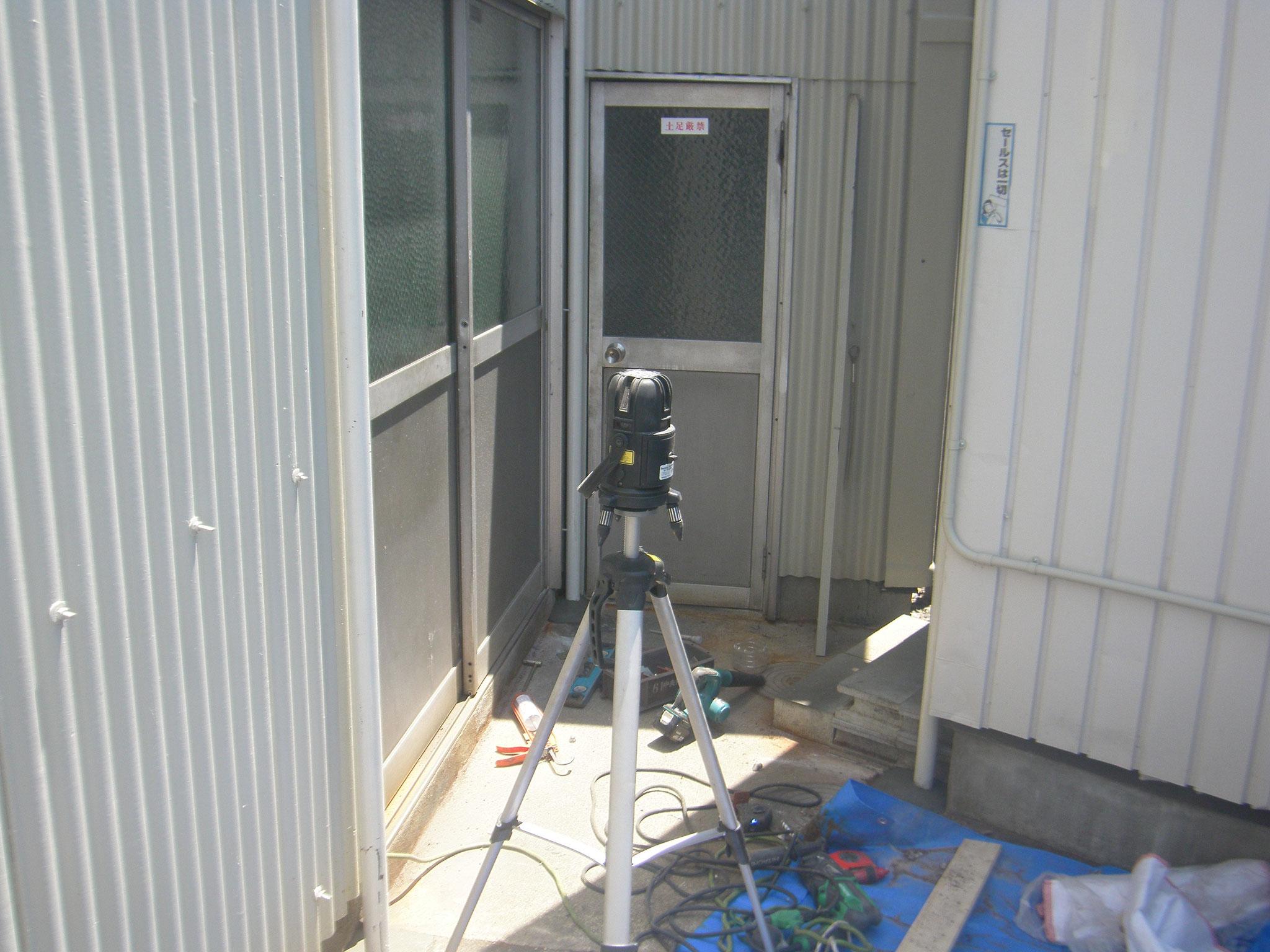 雨避け庇新設工事:工程写真