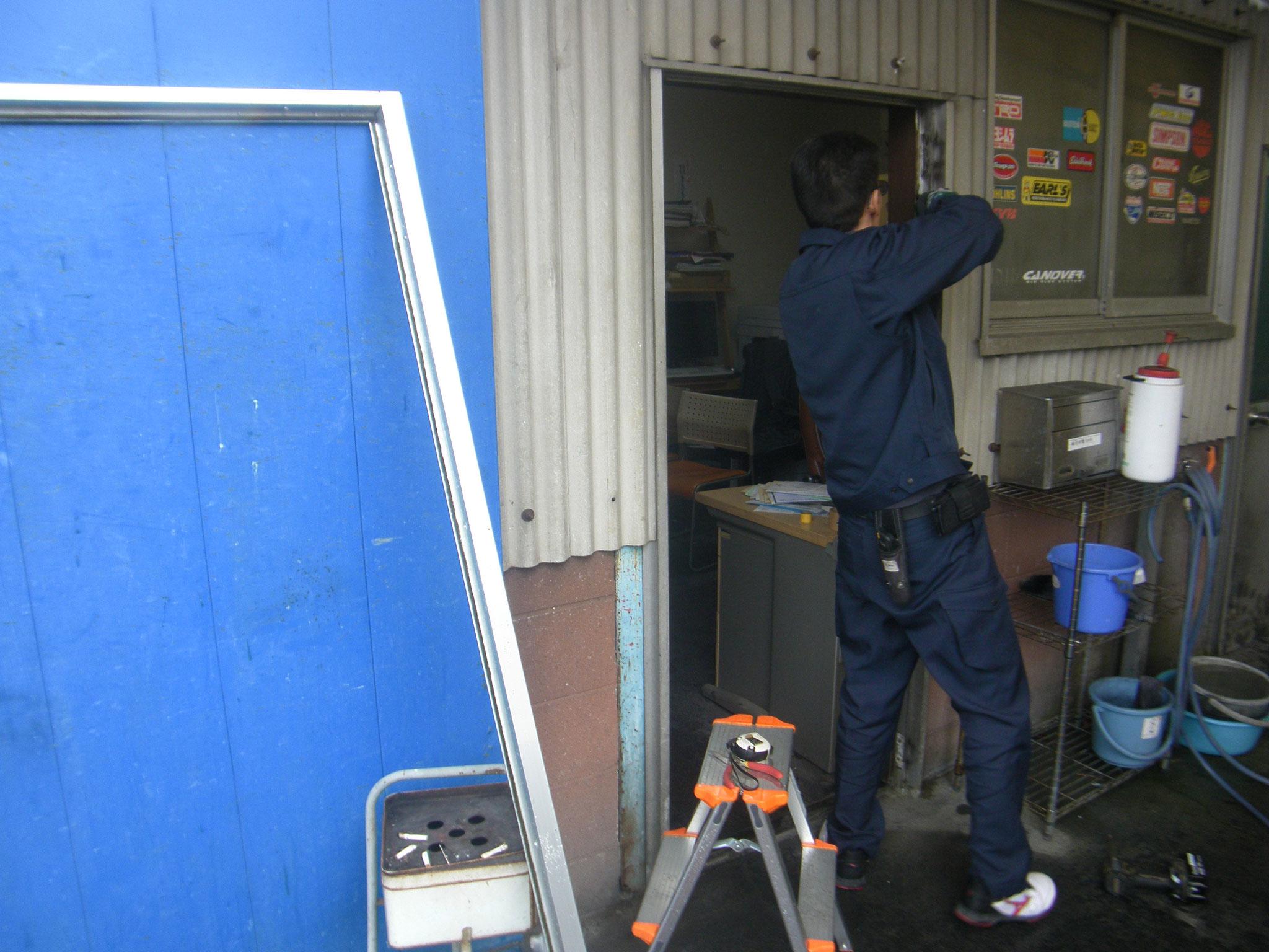 各種建具改修工事:工程写真