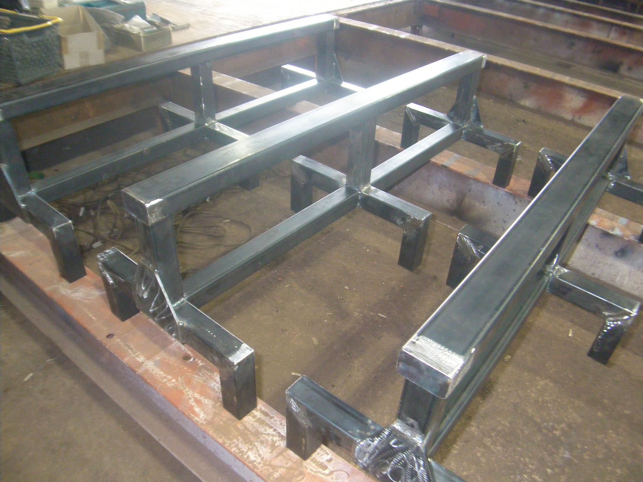 長尺板用作業台:工程写真