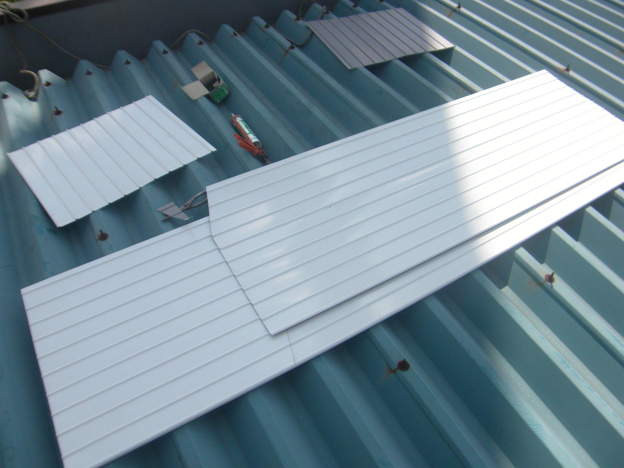 パラペット内壁漏水修理:工程写真