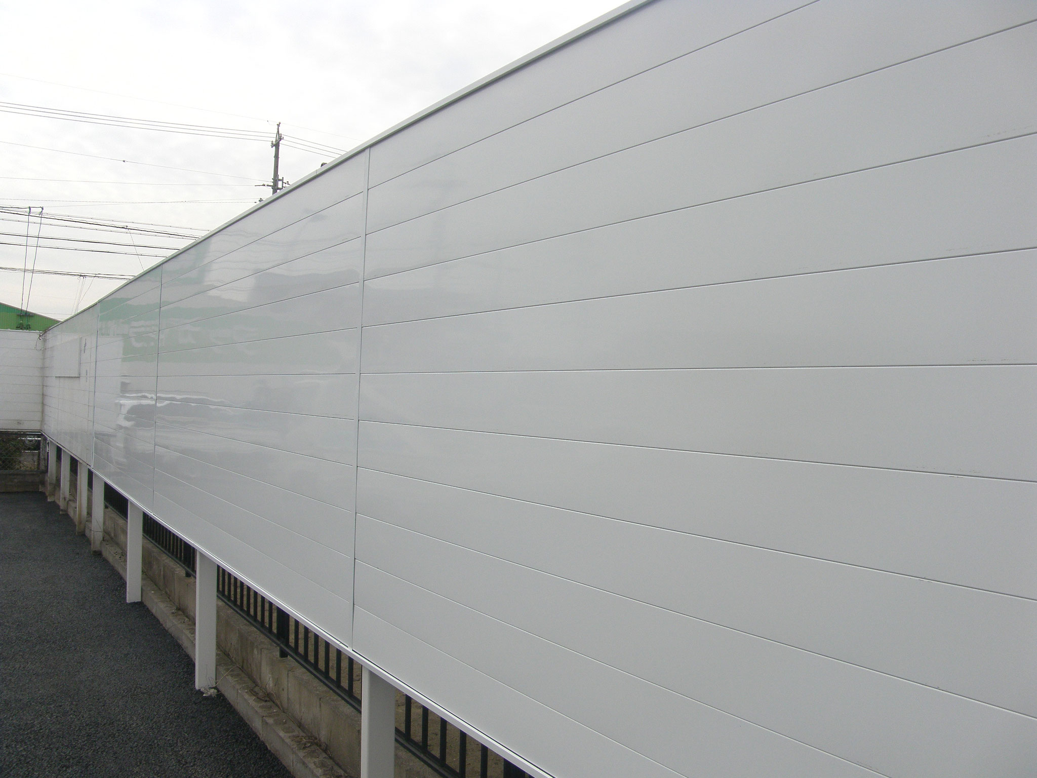 境界フェンス拡張工事:工程写真