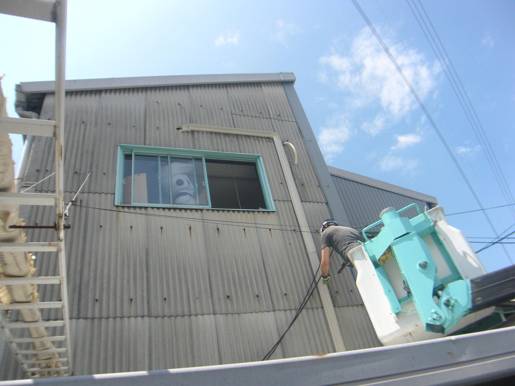 食堂エアコン改修工事:工程写真