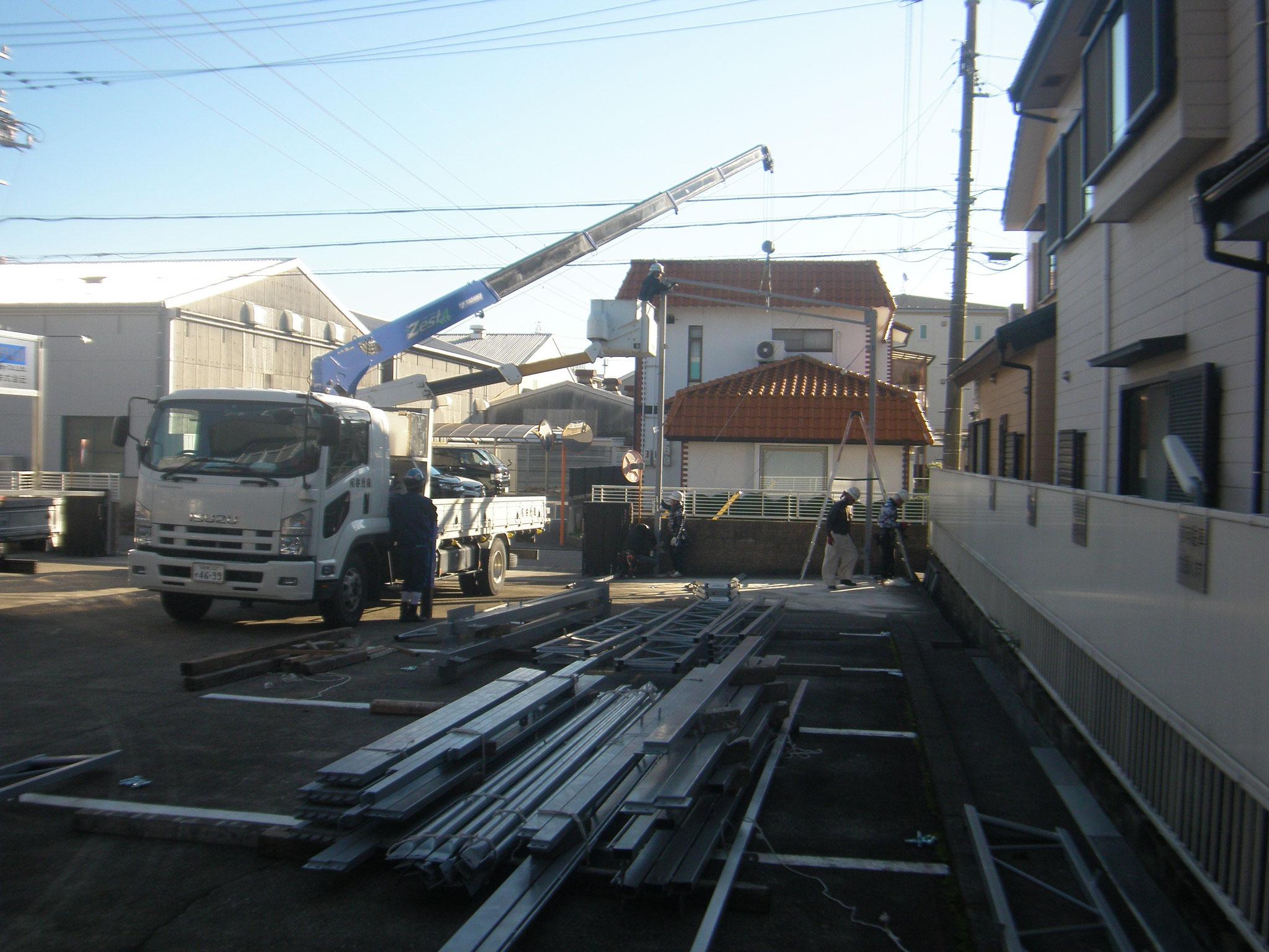 テント倉庫新築工事:工程写真