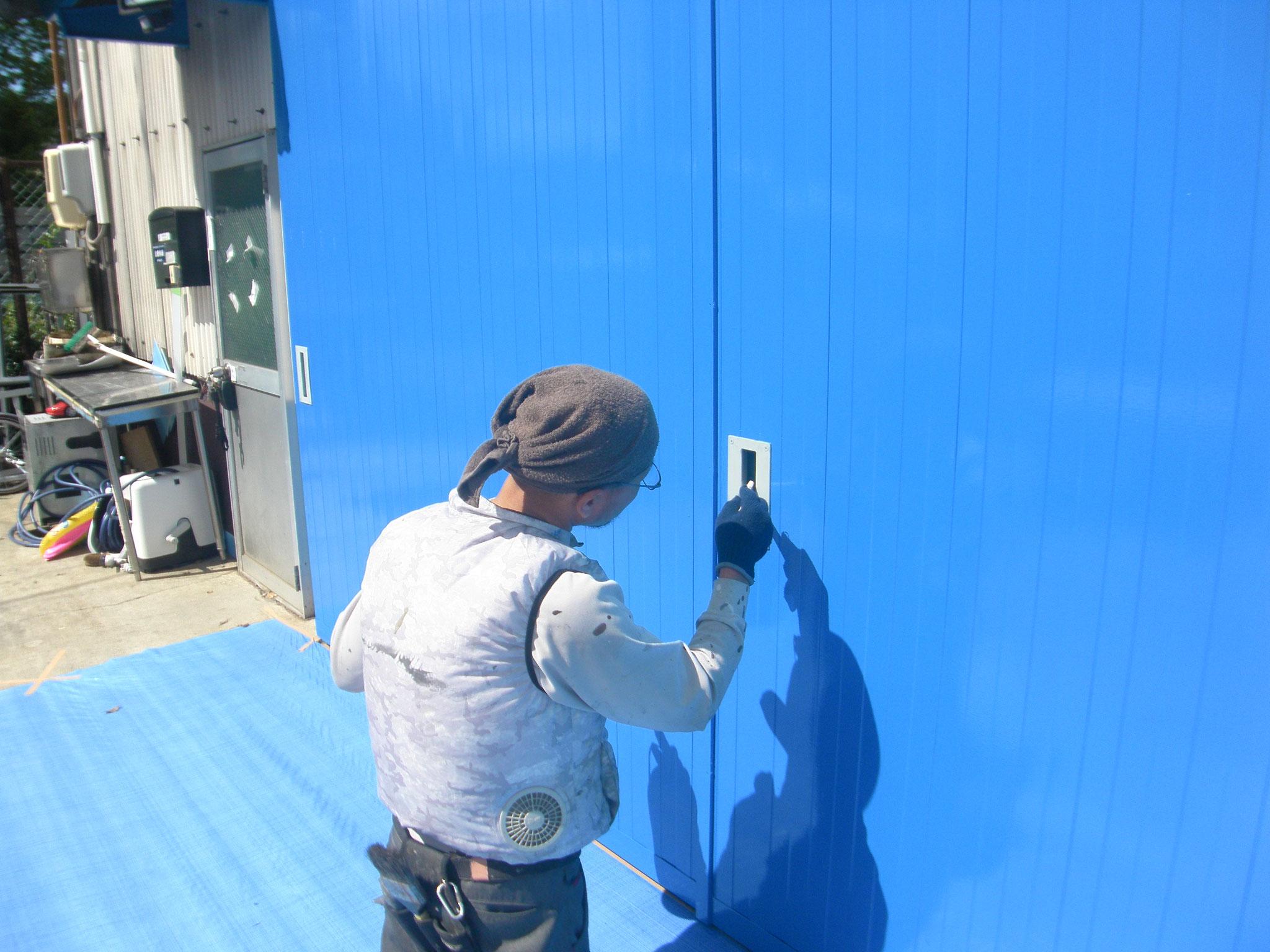ハンガードア改修工事:工程写真