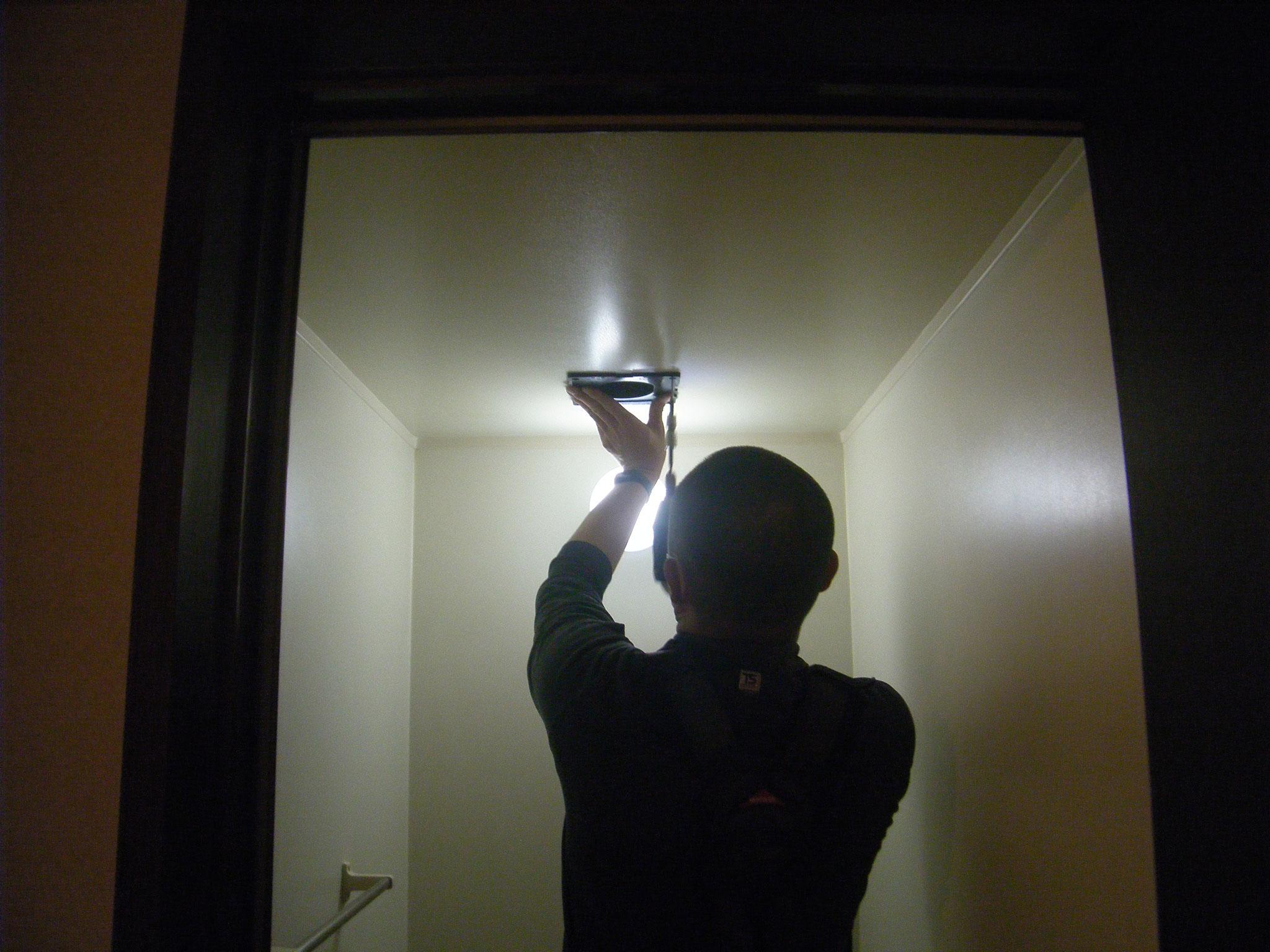 二室換気扇入替工事:工程写真