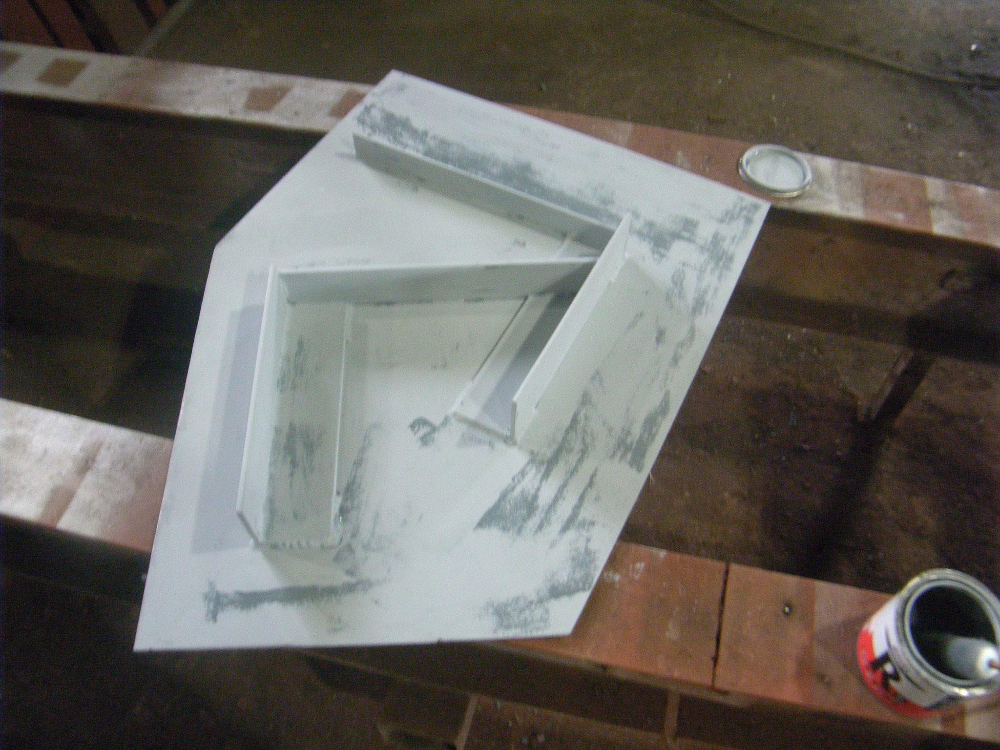ドブ板(異形)製作の工程写真