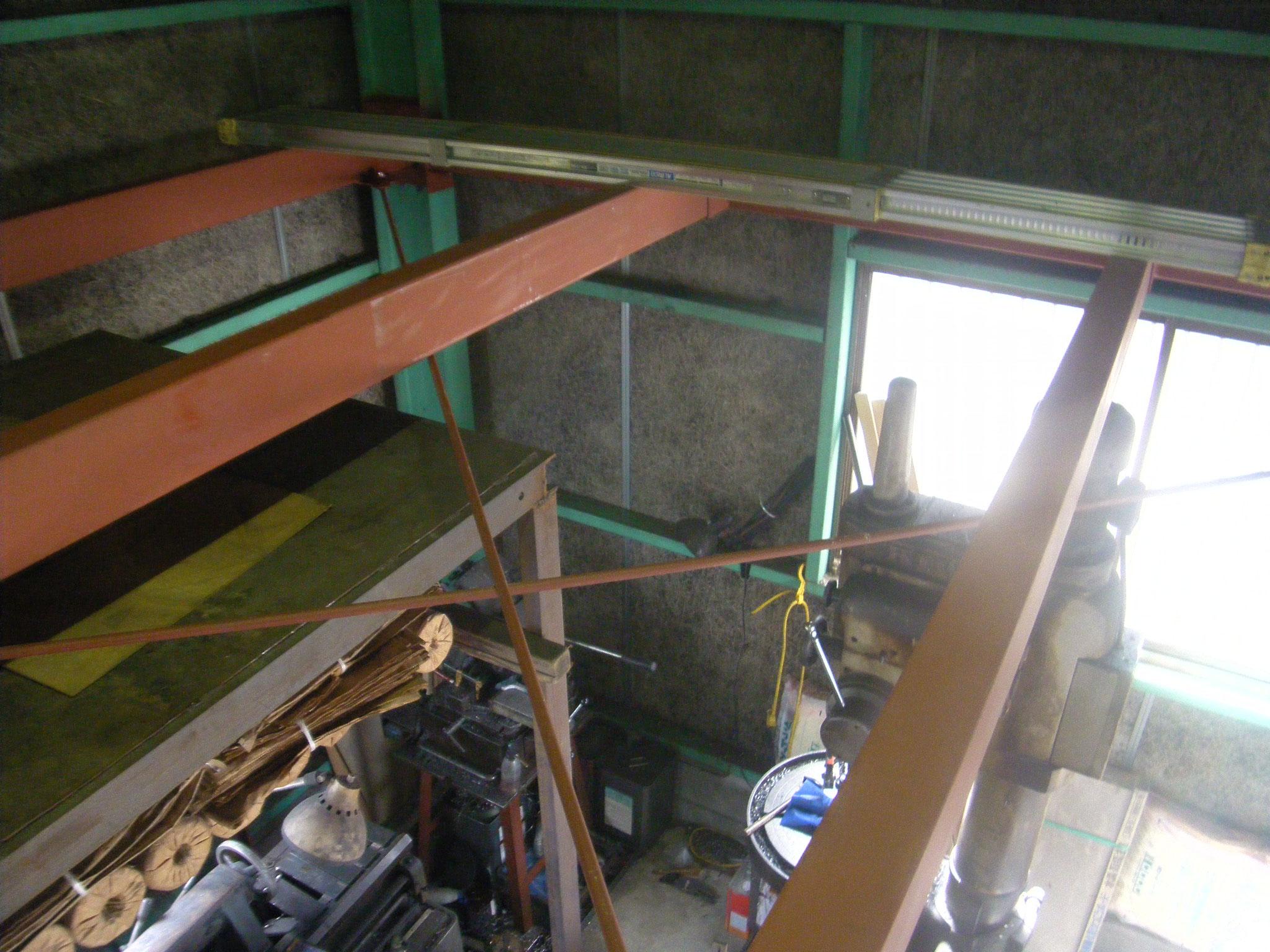 中二階拡張鉄骨工事②:工程写真
