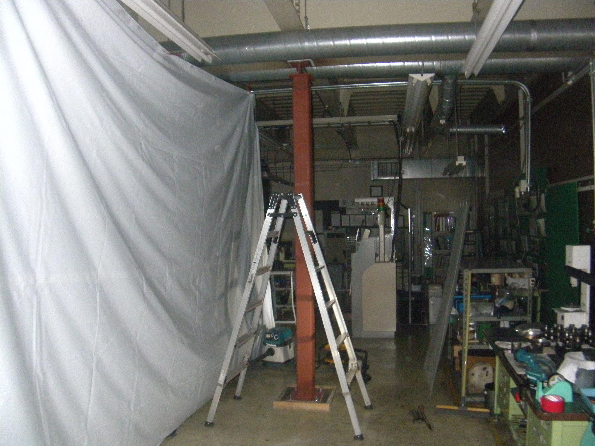 補強柱新設工事:工程写真