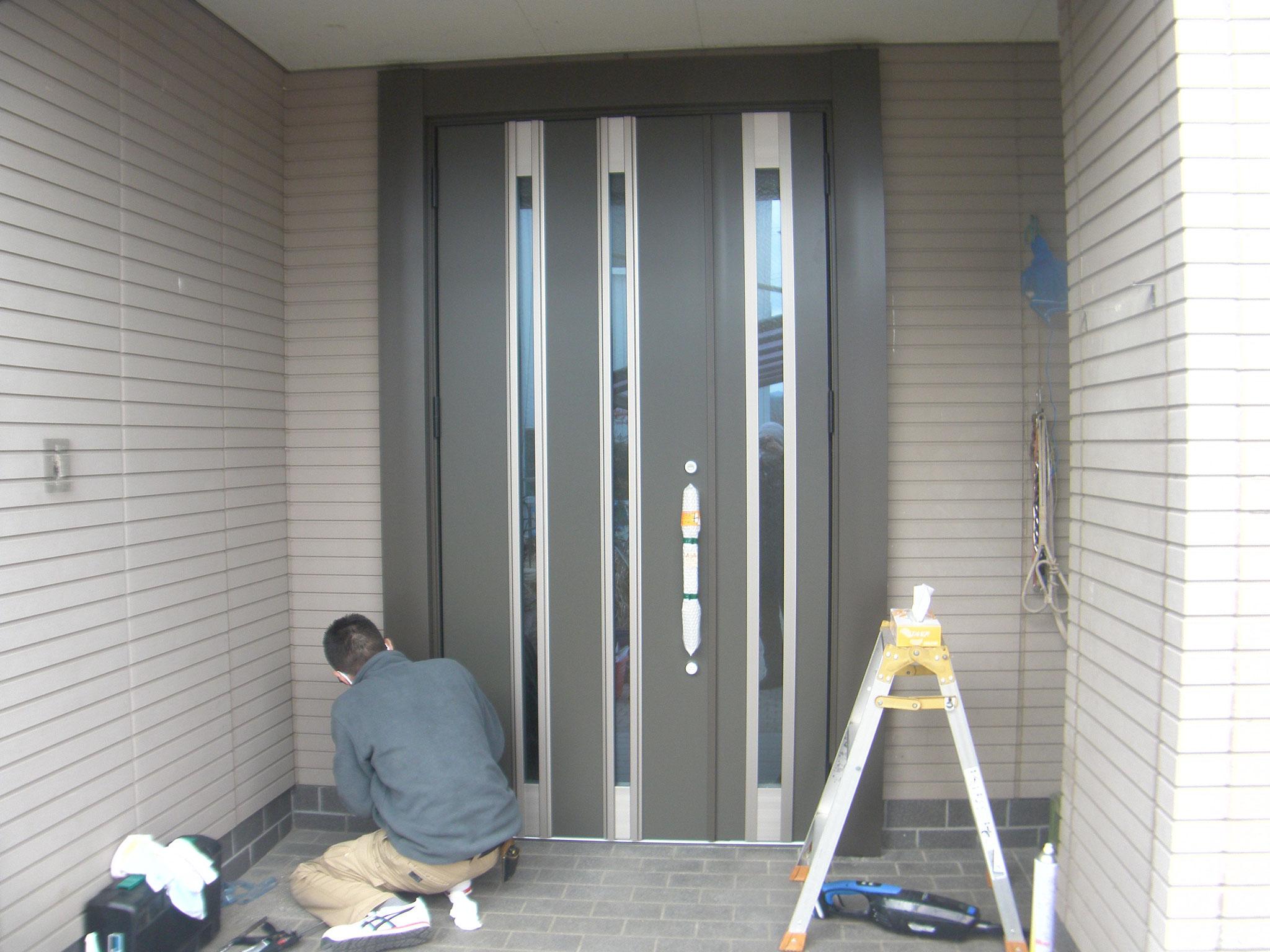 リシェント玄関ドア:工程写真