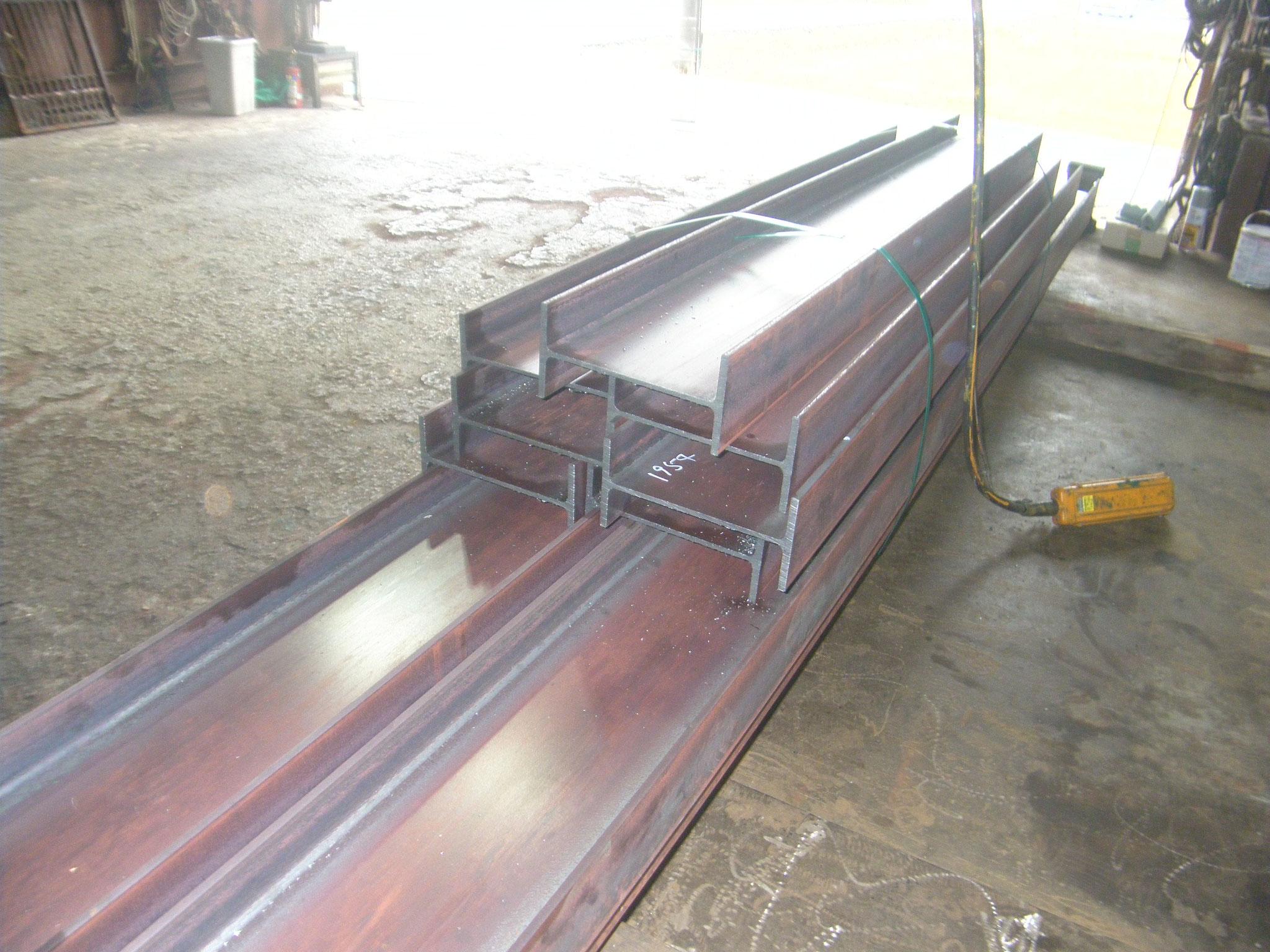 機械室鉄骨工事:工程写真