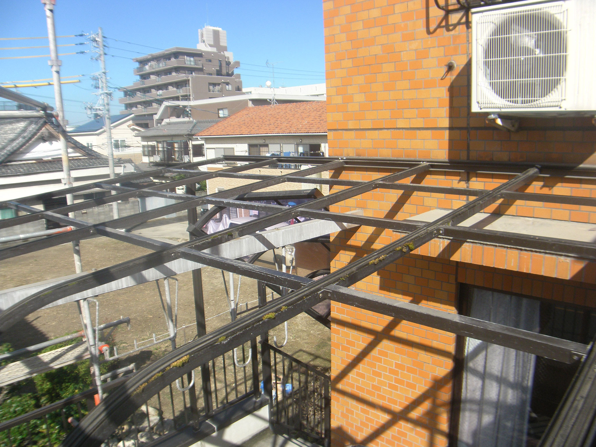 テラス屋根取替工事:工程写真