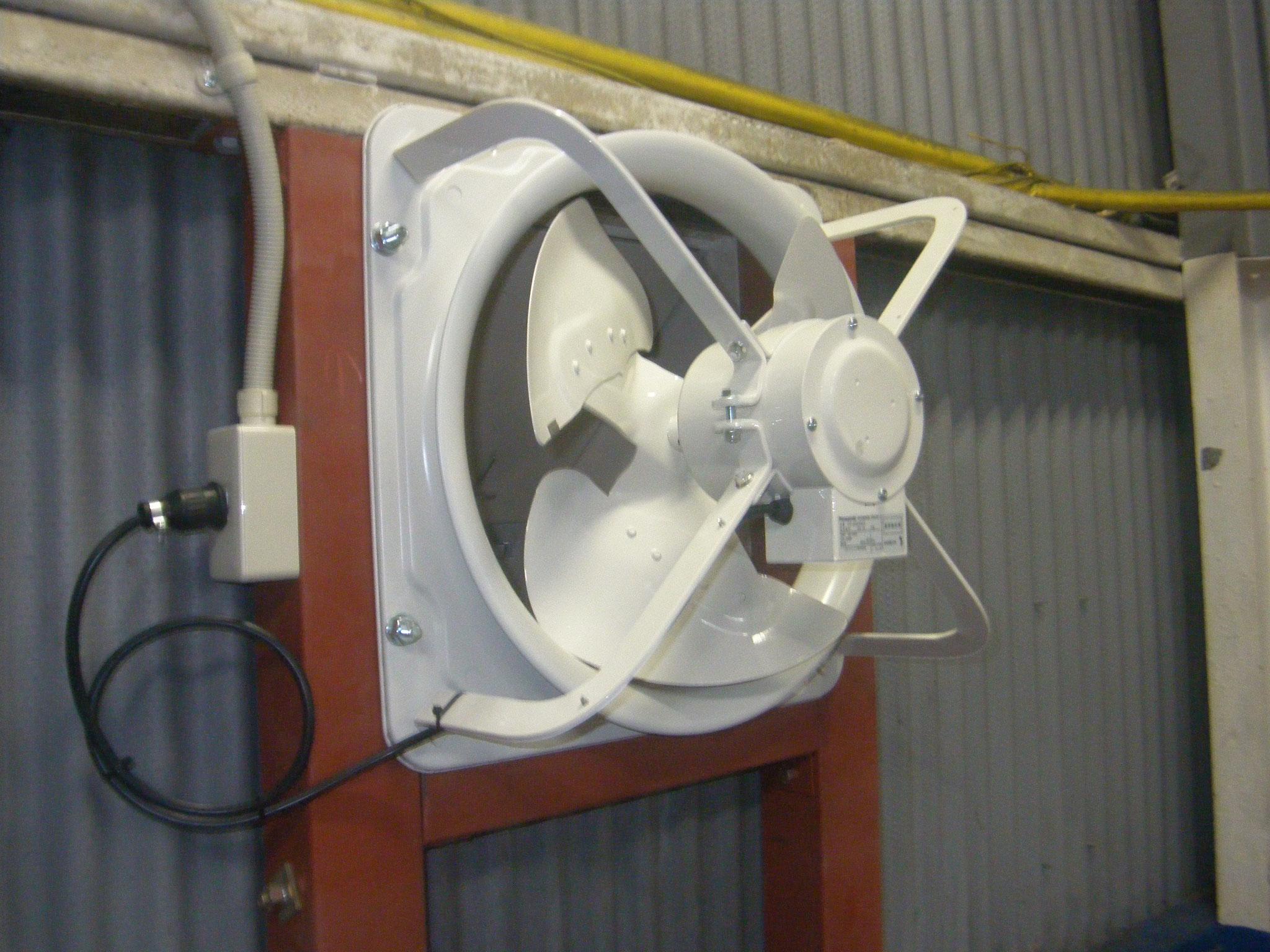 換気扇増設工事:工程写真