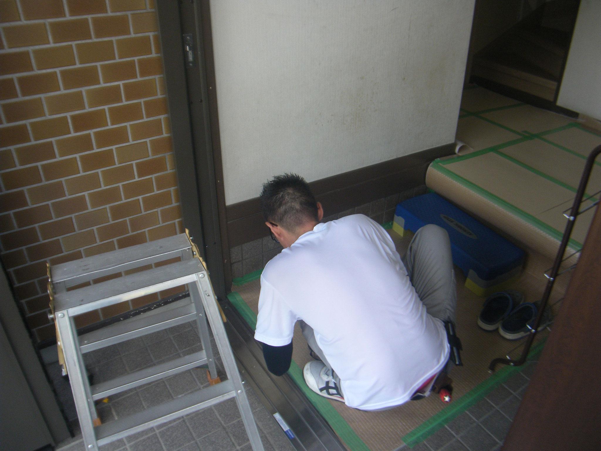 リシェント玄関ドア②:工程写真