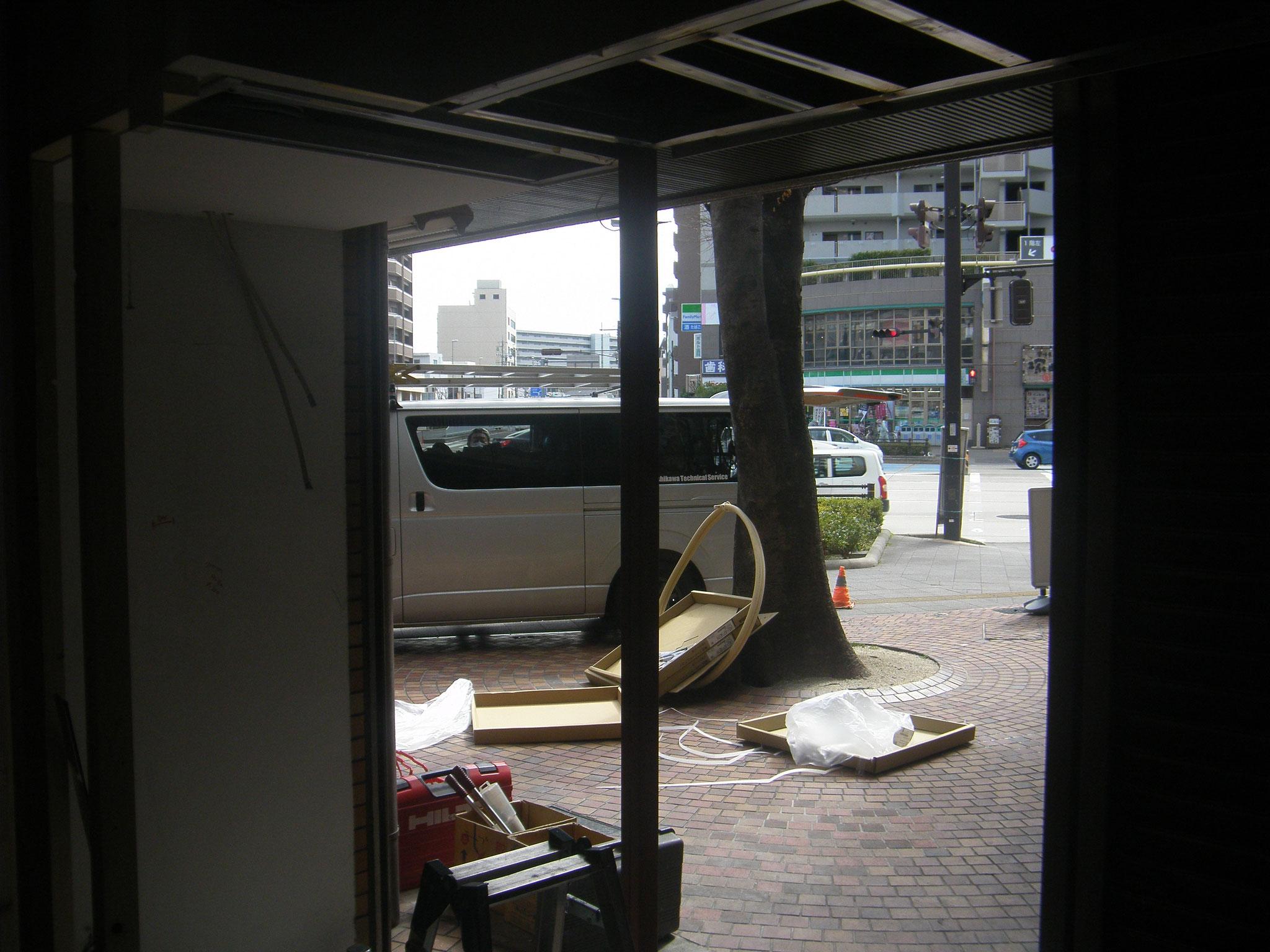 壁及びサッシ下地工事:工程写真