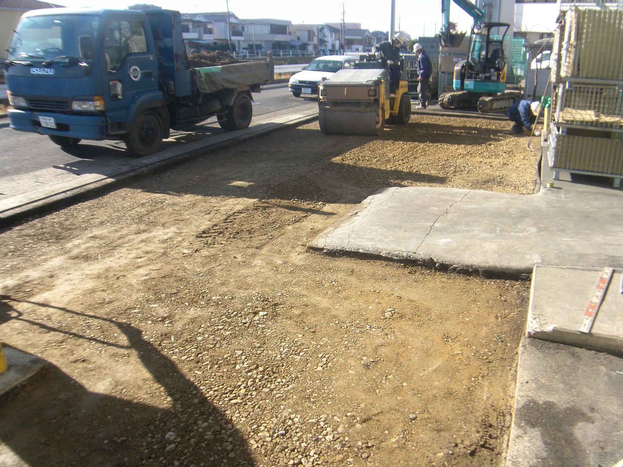 入出荷場舗装改修工事:工程写真