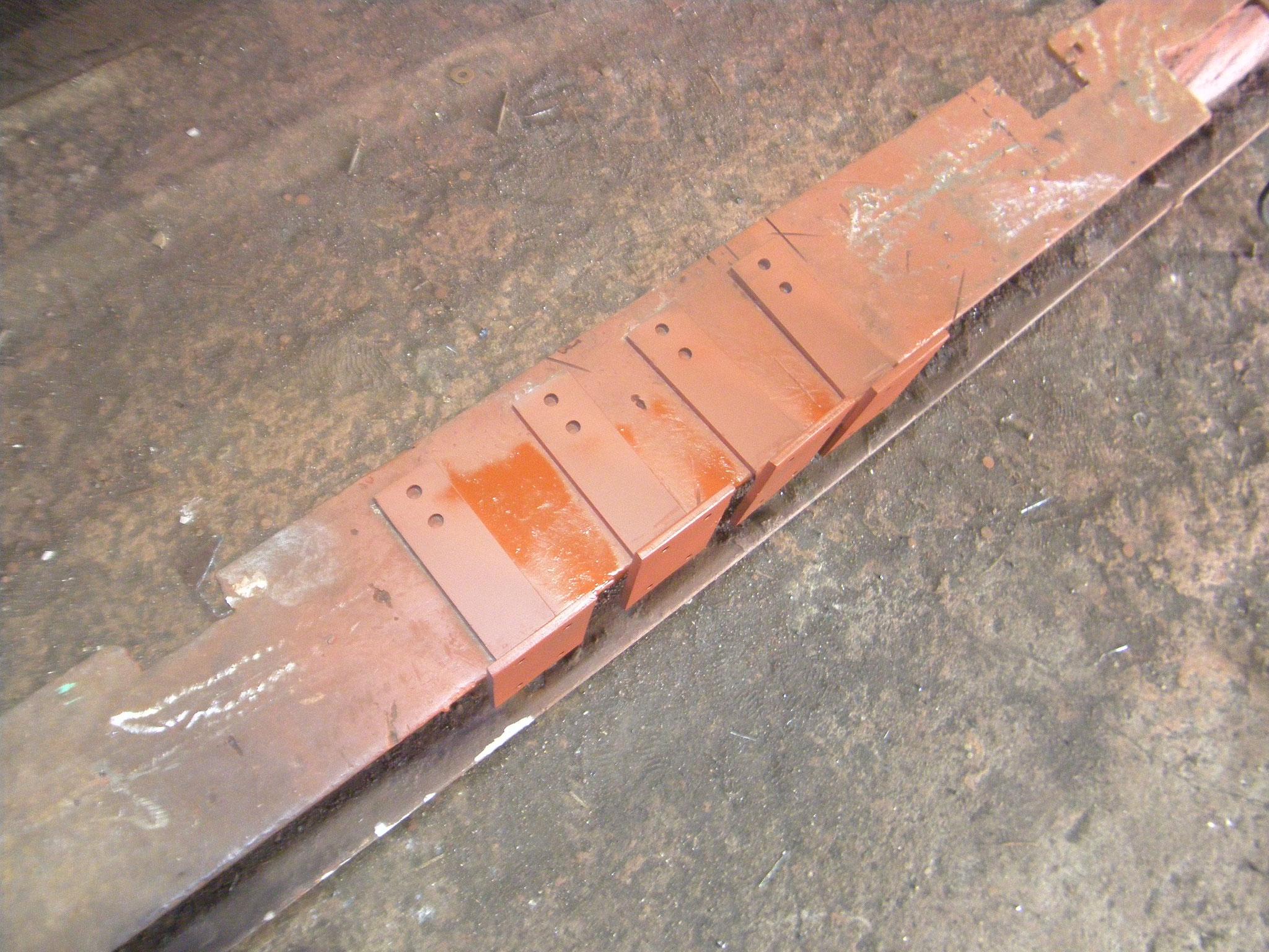 雨樋バンド取替工事の工程写真