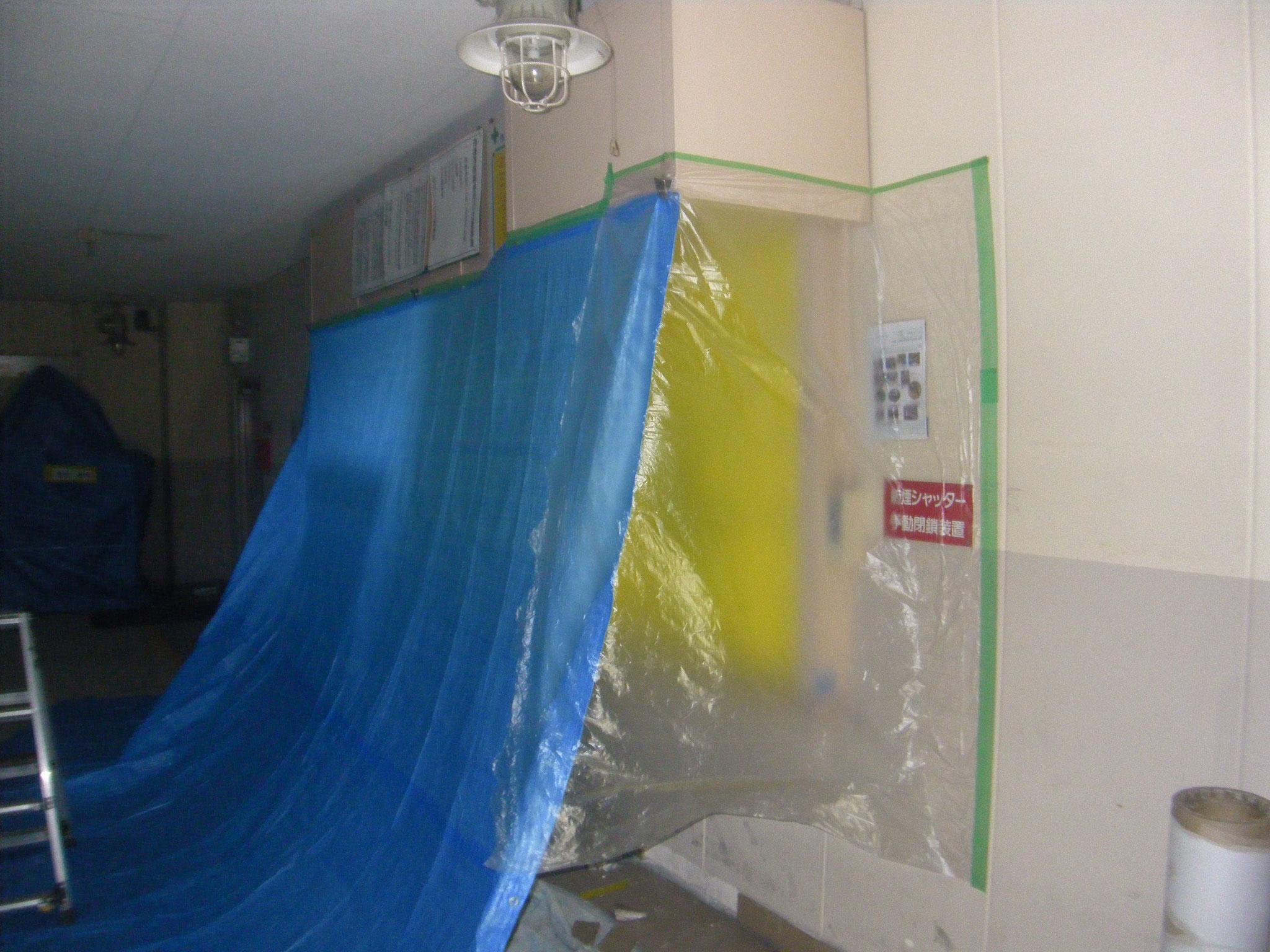 管理室破損部改修工事:工程写真