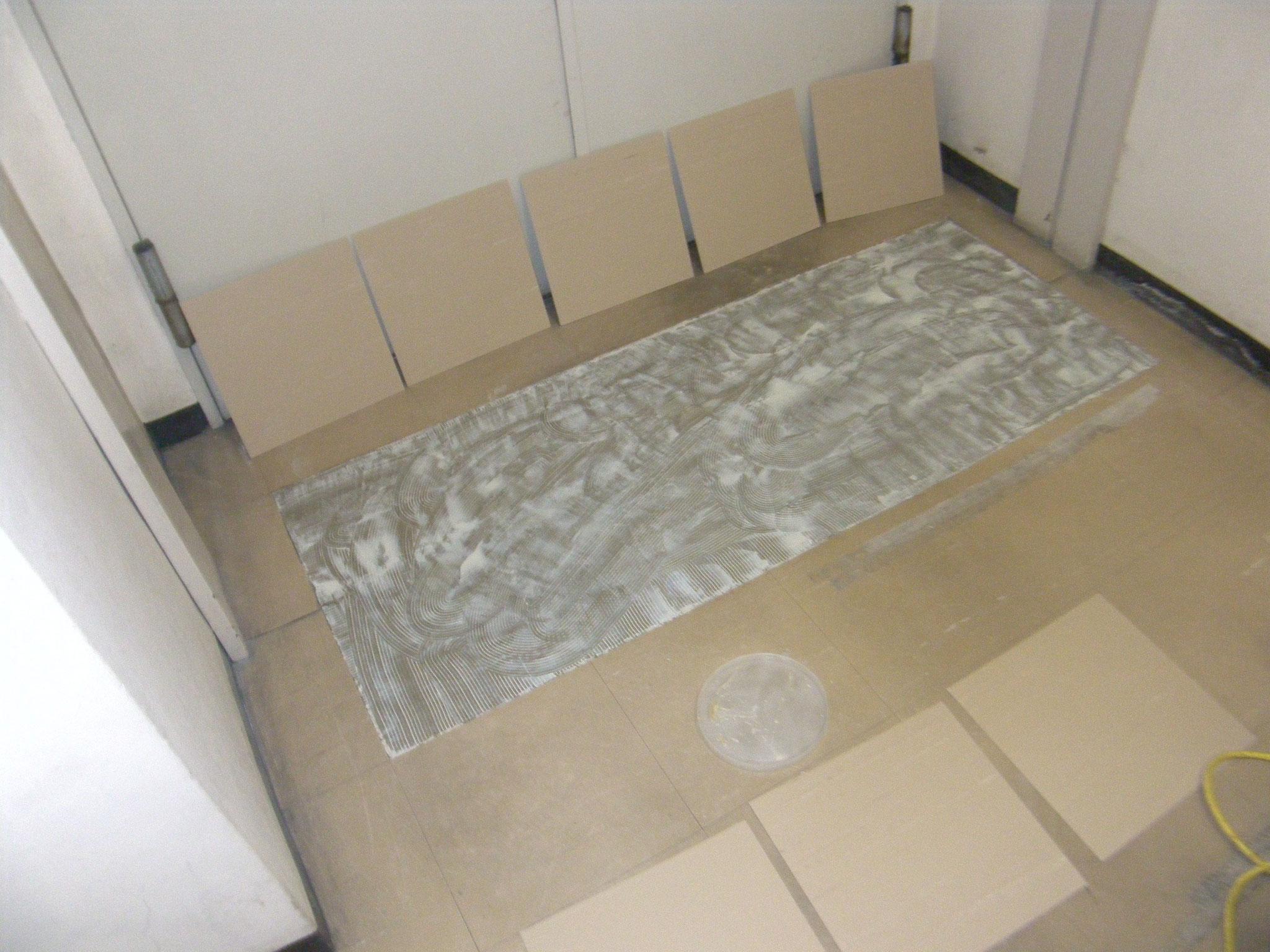 Pタイル床改修工事:工程写真