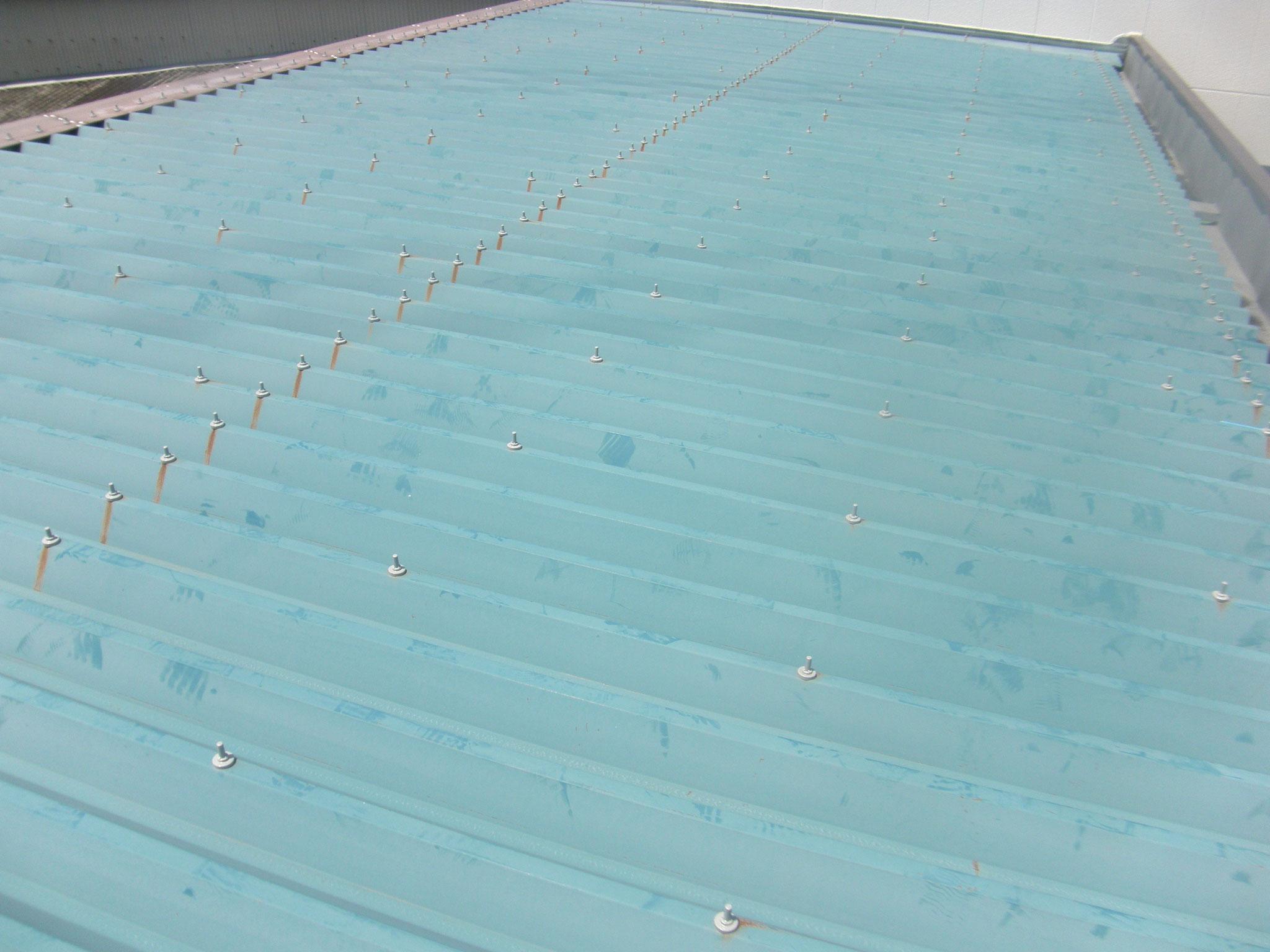 折版屋根遮熱塗装工事:工程写真