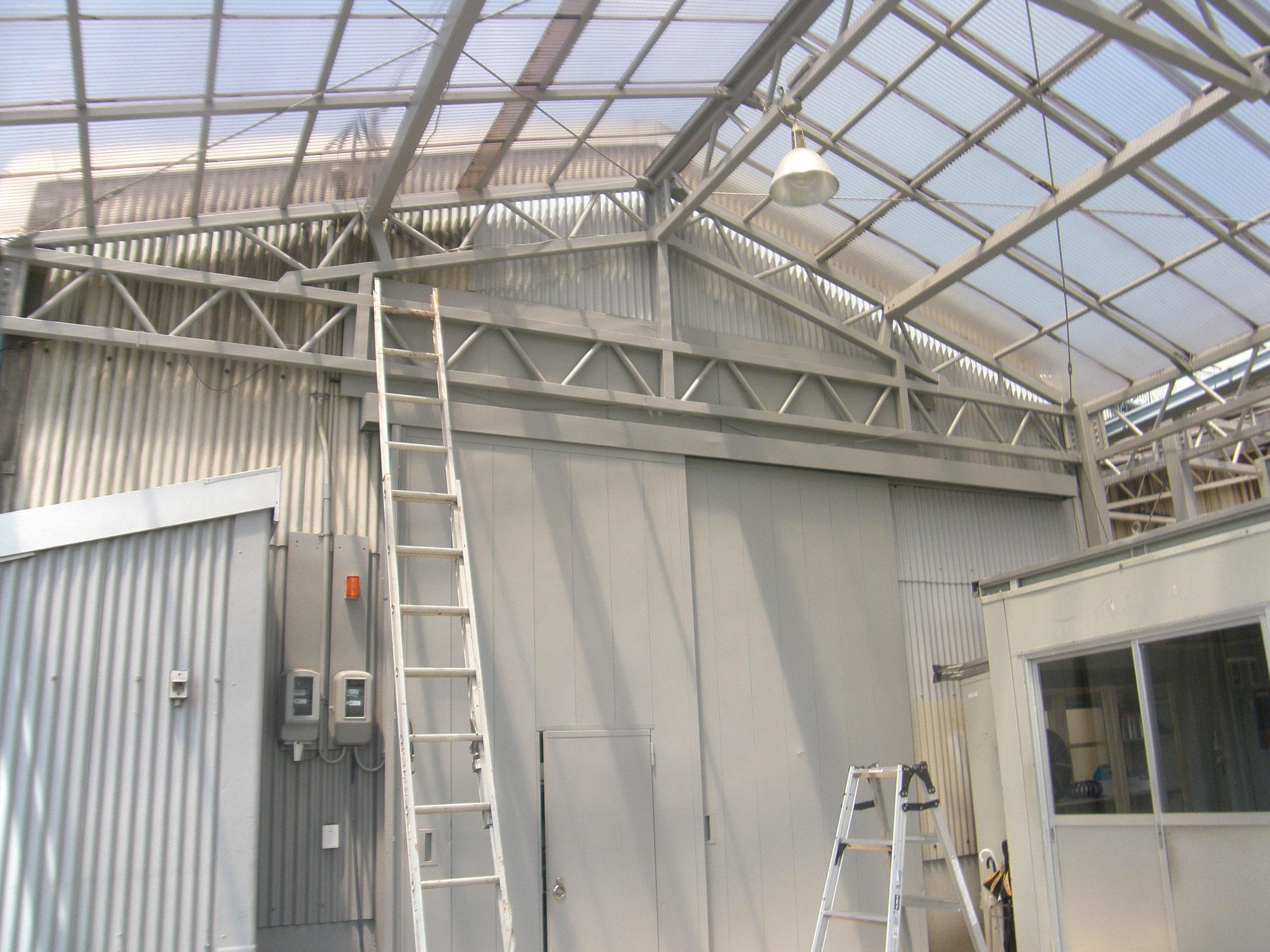 工場外壁塗装工事:工程写真