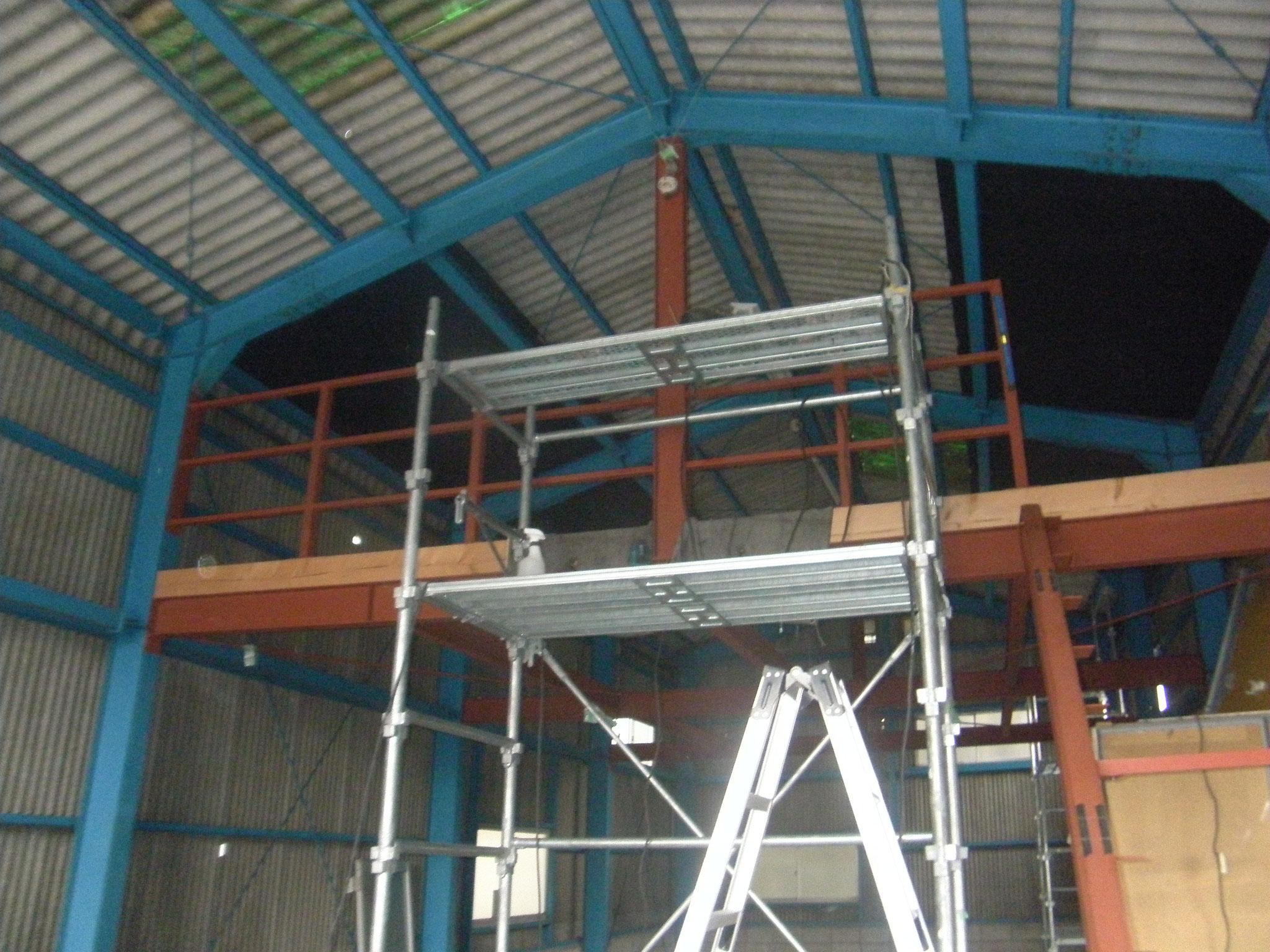 鉄骨階段及び手摺工事:工程写真
