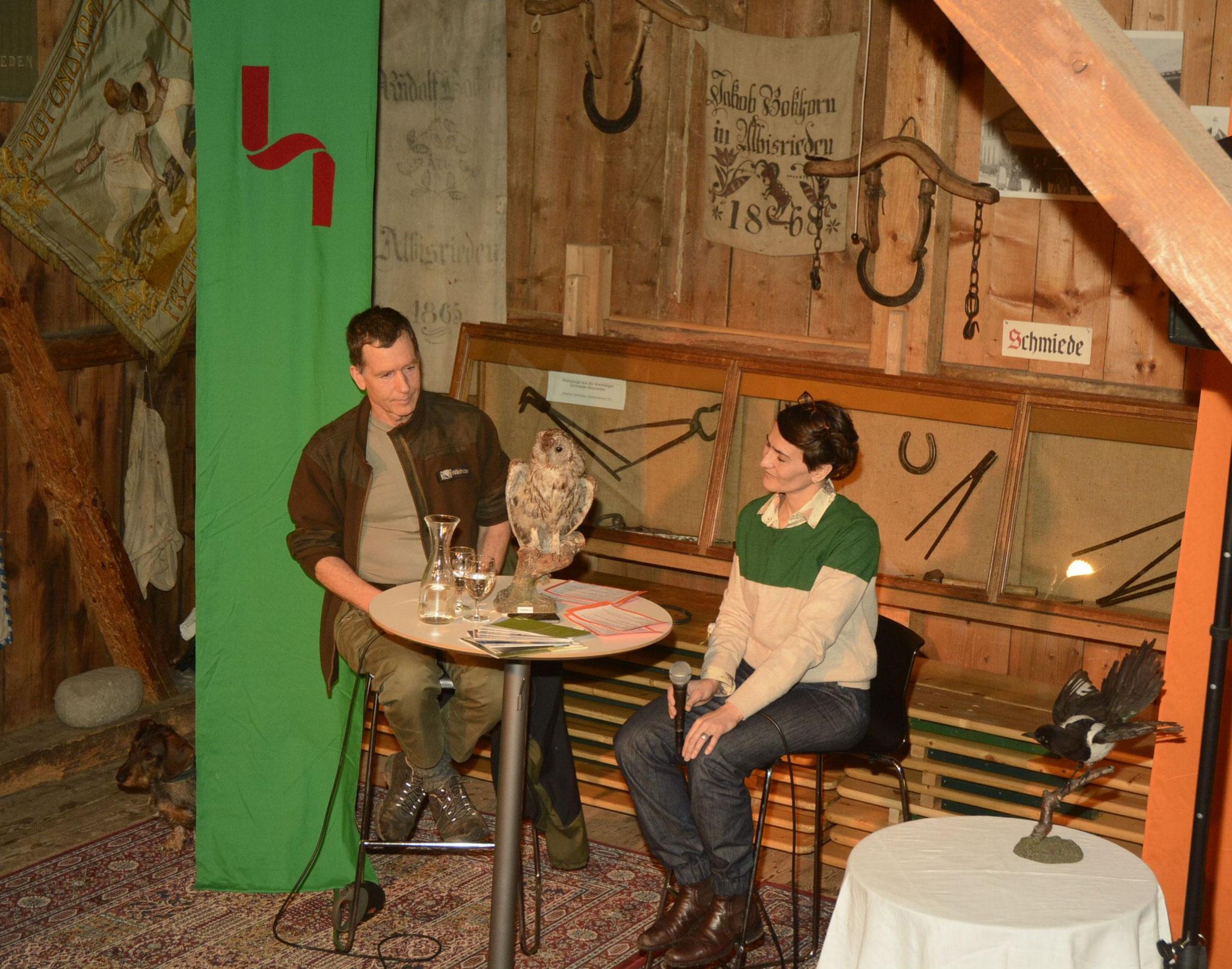heuwender #15 mit dem Wildhüter This Schenkel, März 2014