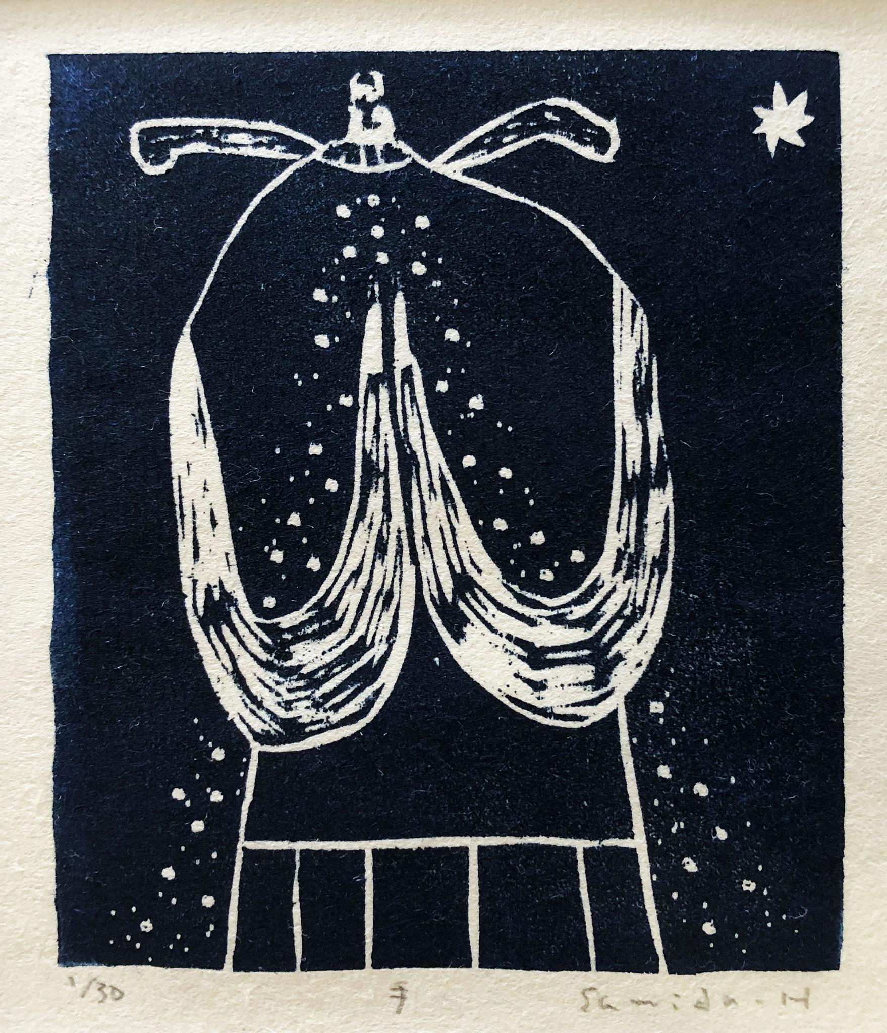 手 木版画 ¥5,50(シート) 12cm×11cm