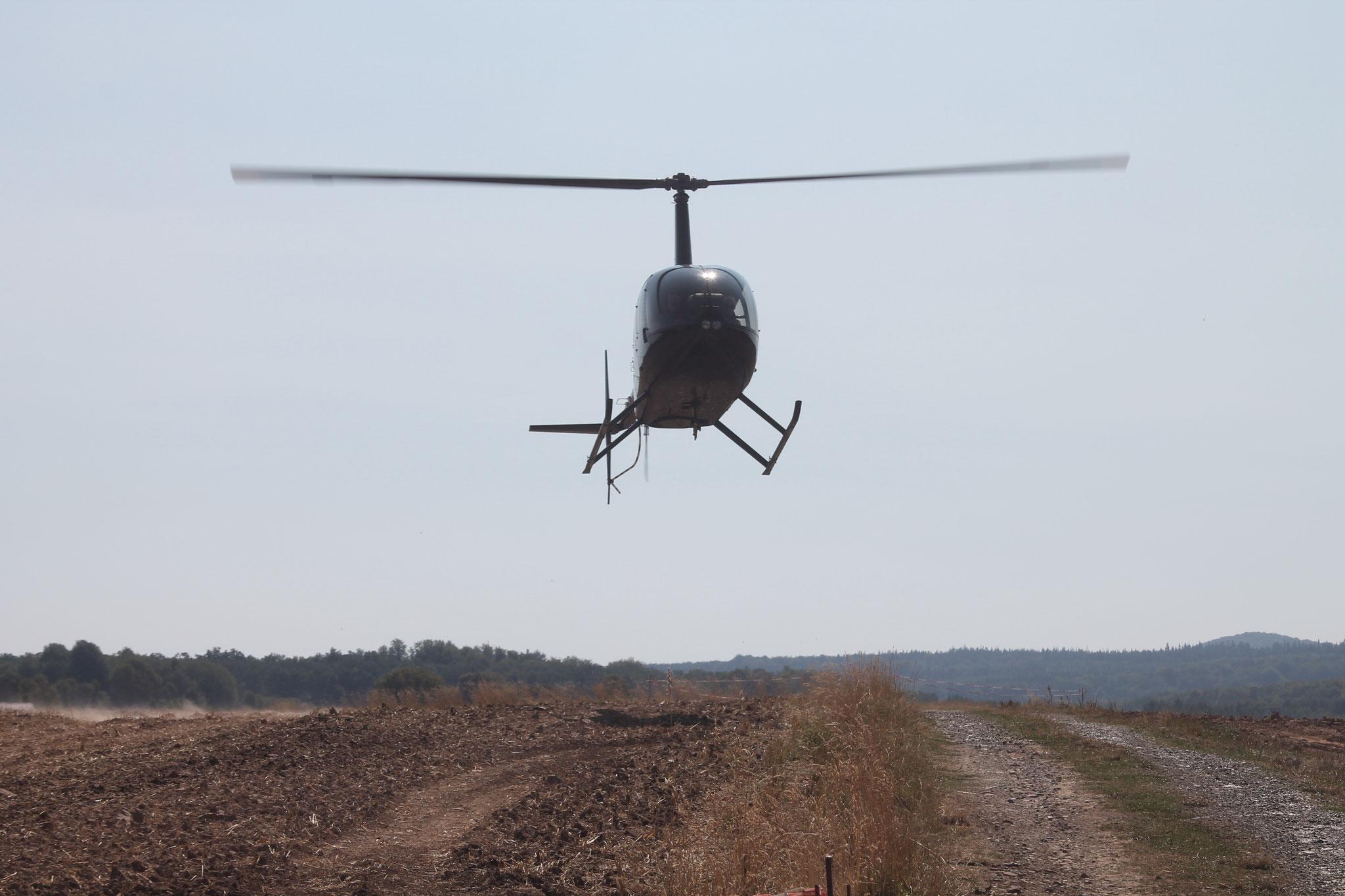 Helikopter im Anflug