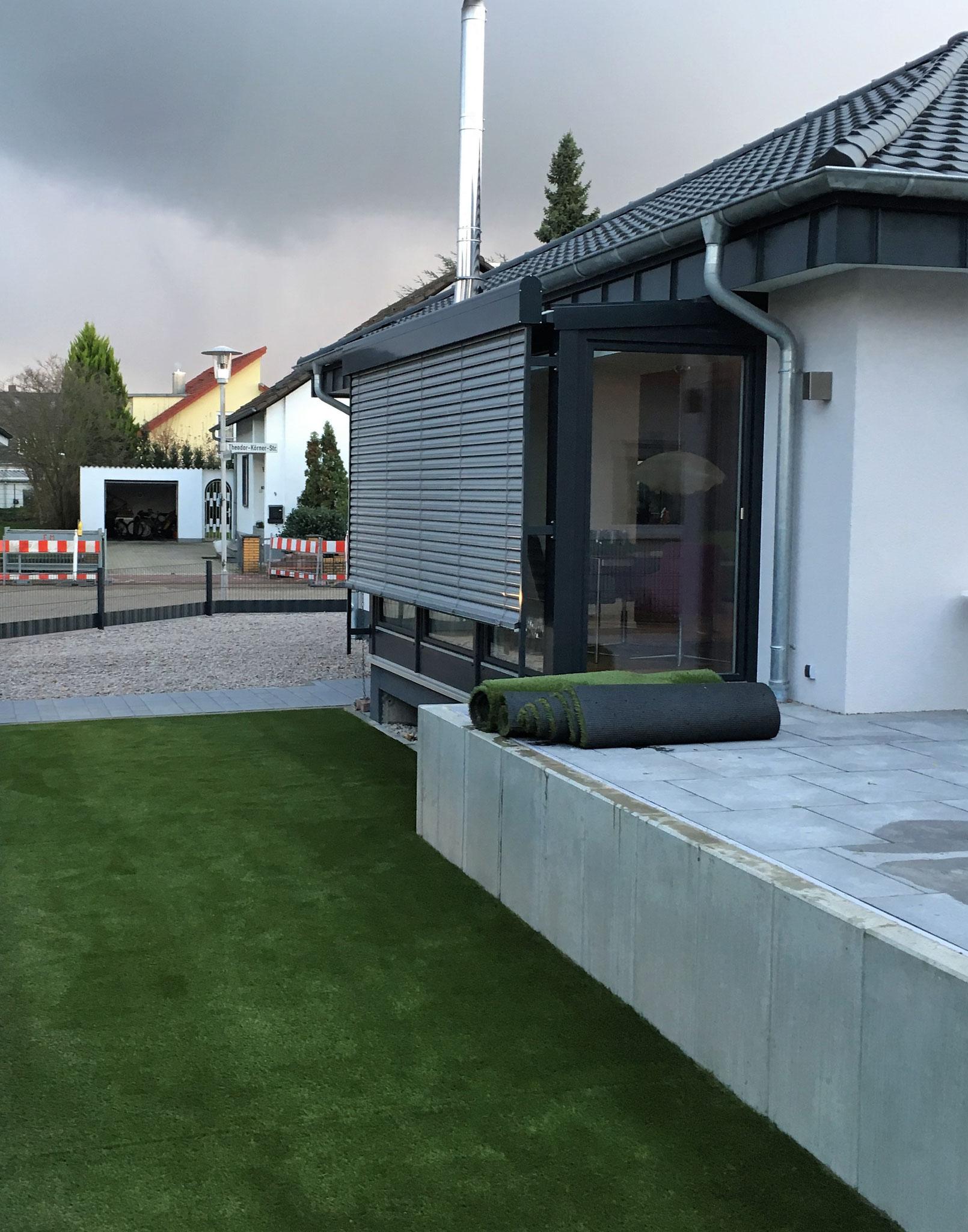 Perfekter Randabschluss an der Terrasse