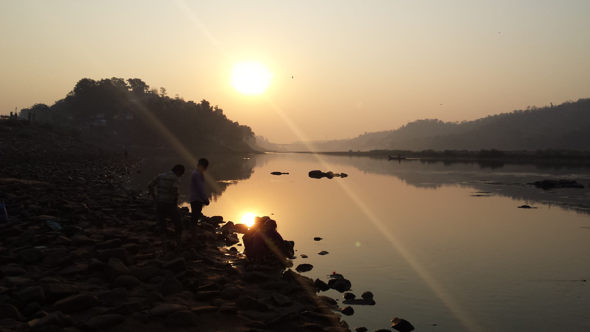 Sonnenuntergang in Omkareshwar