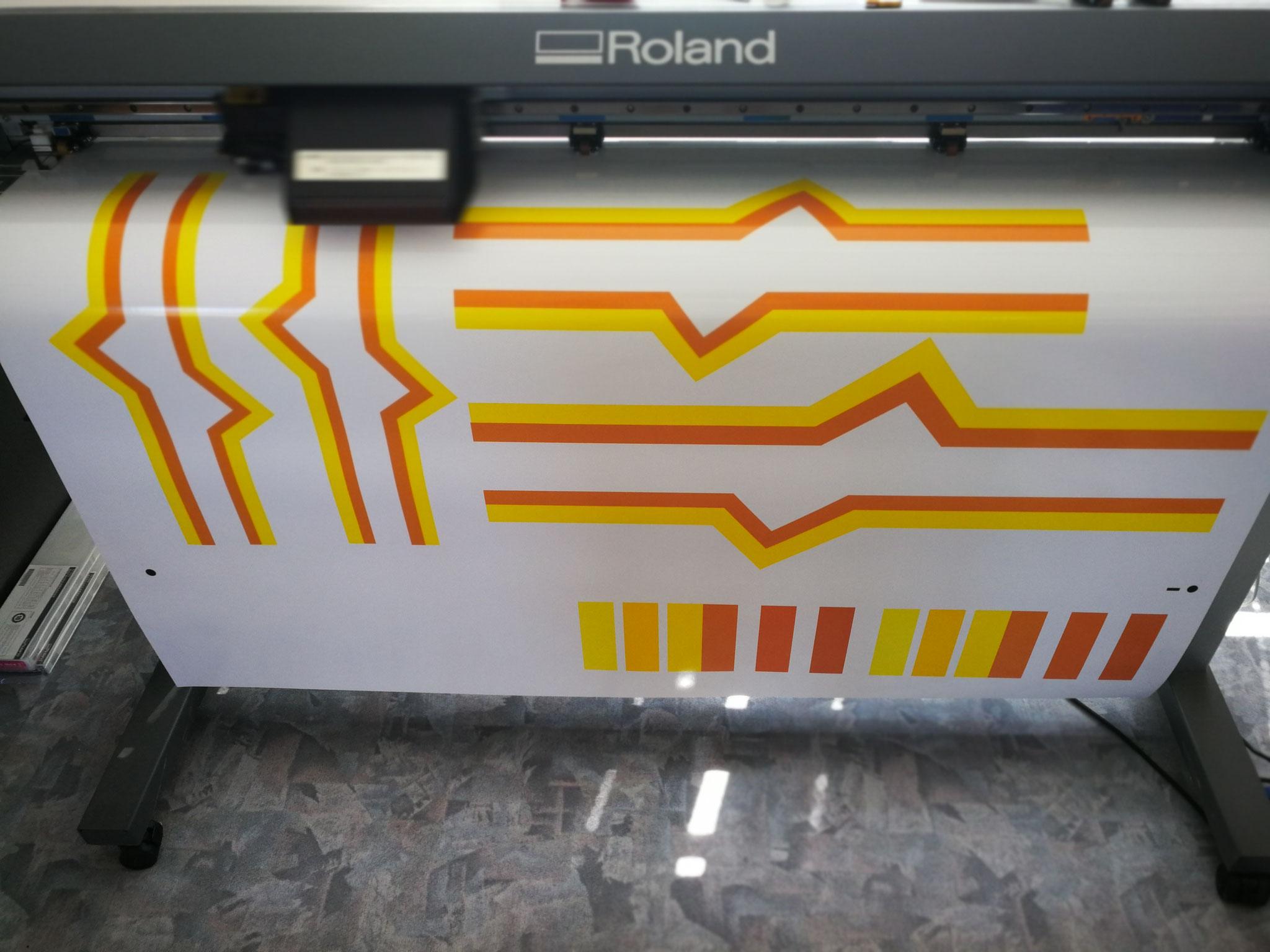 und geplottete Digitaldrucke