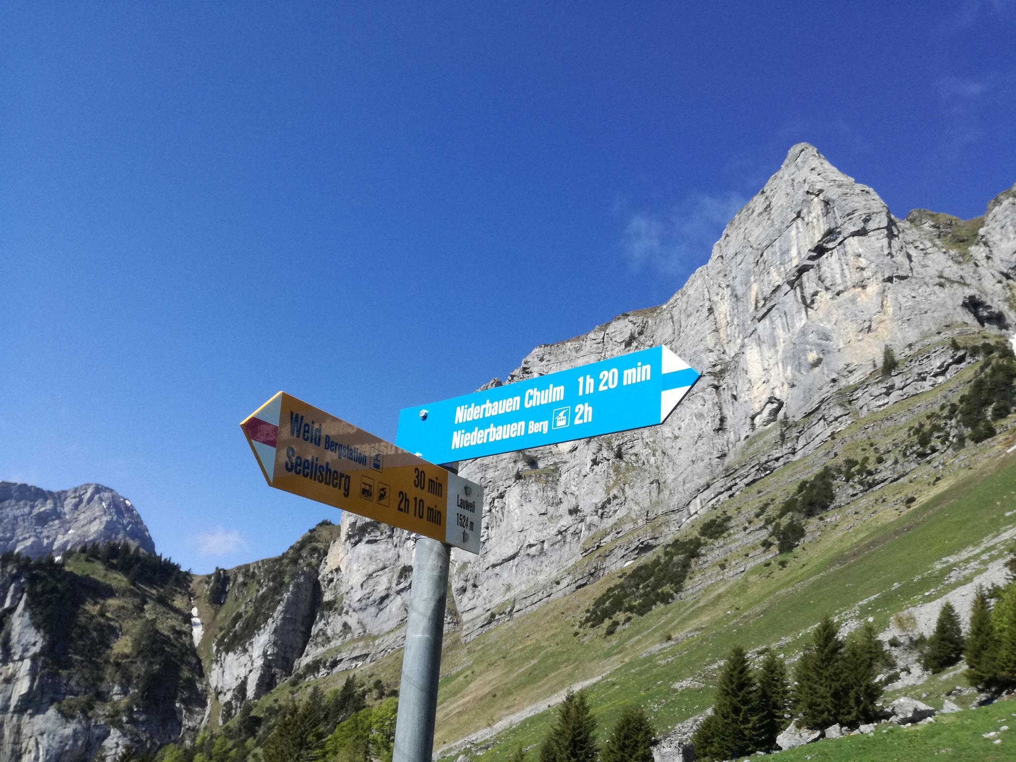 Wanderweg Richtung Chulm