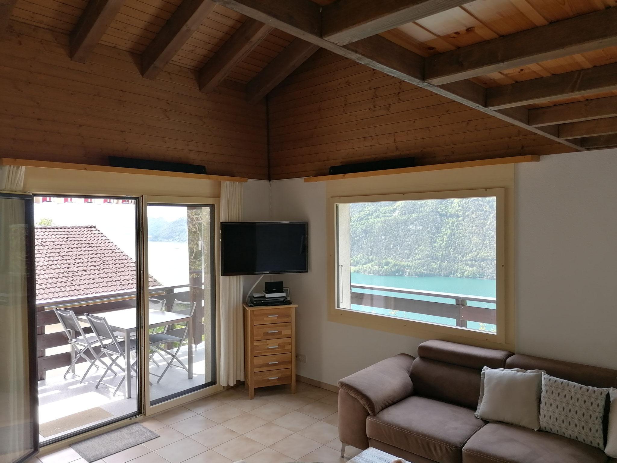 Wohnzimmer / TV / Aussicht