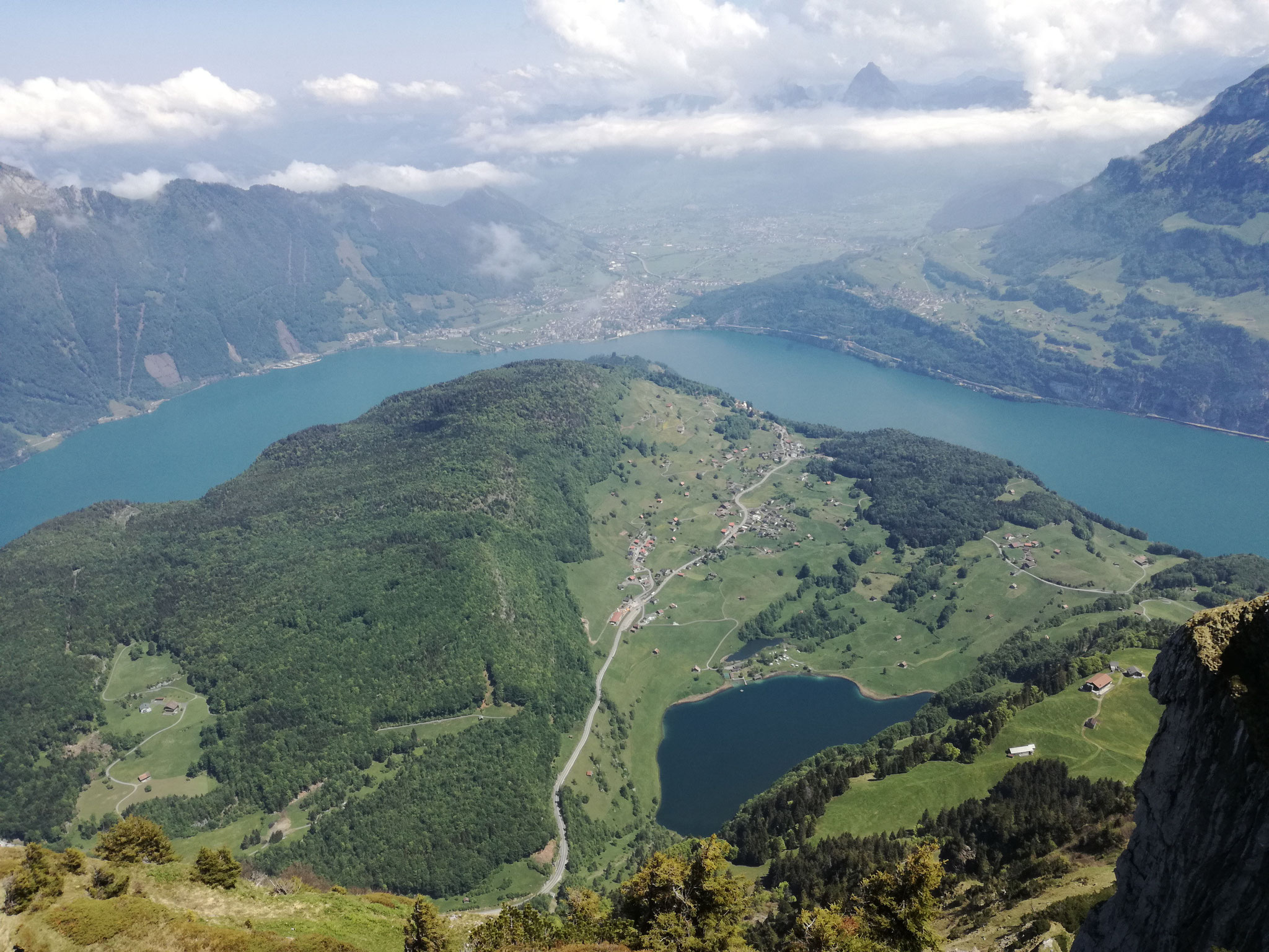 Sicht vom Chulm Richtung Seeli, Seelisberg, Vierwaldstättersee, Brunnen, Schwyz