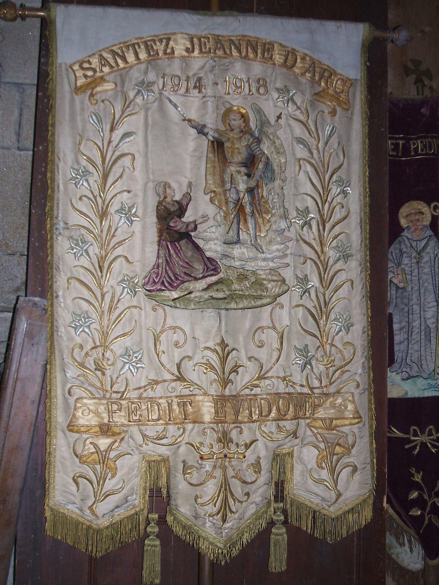 Bannière Jeanne d'Arc, 1919.