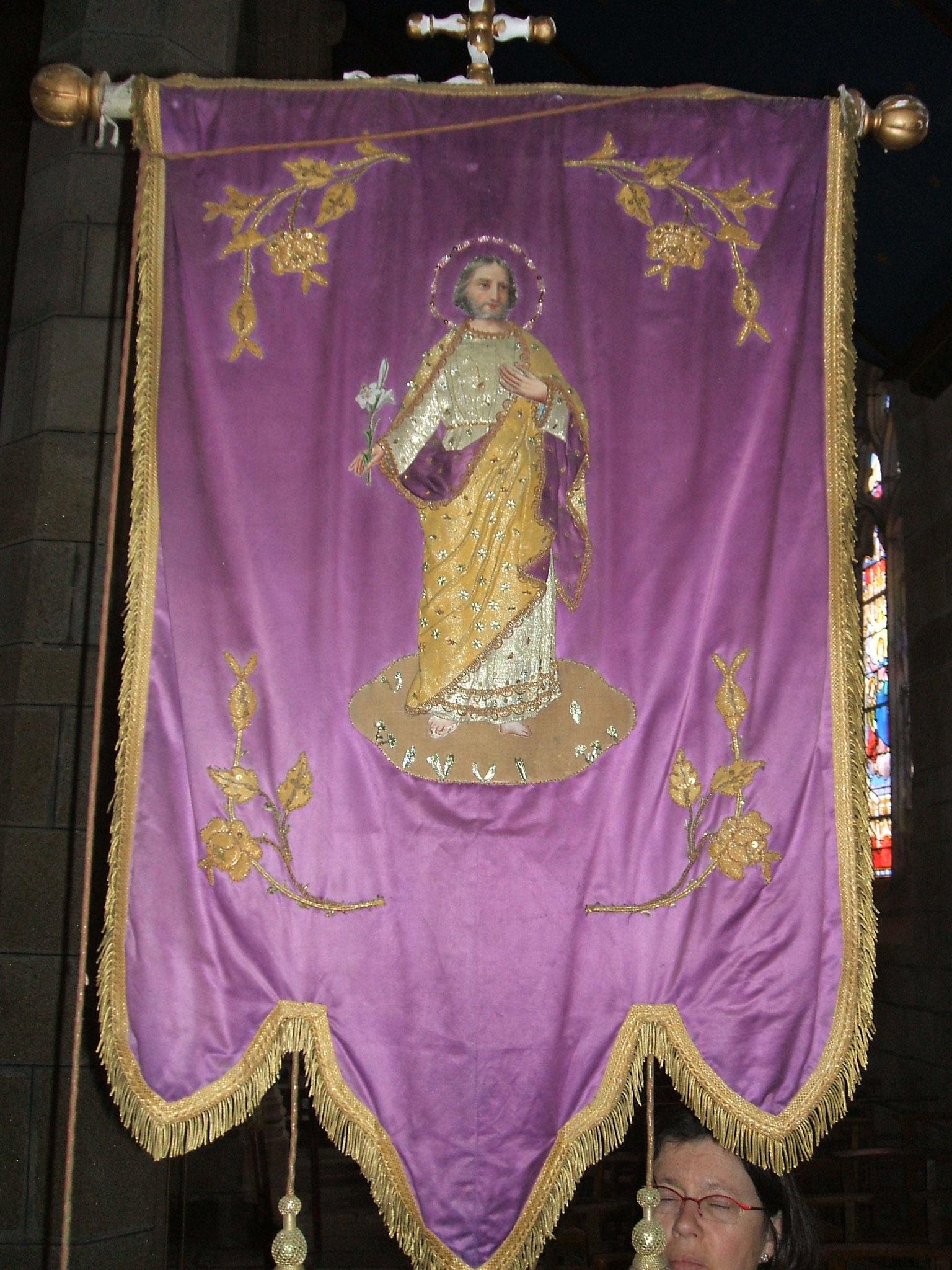 Bannière des Jeunes, saint Joseph.